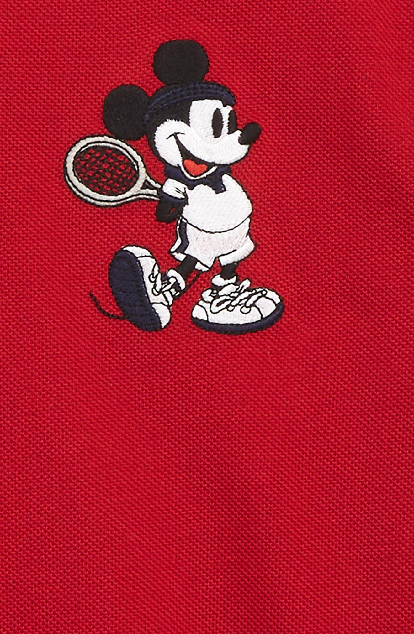Disney Tennis Polo Shirt,                             Alternate thumbnail 2, color,                             LIGHTHOUSE RED