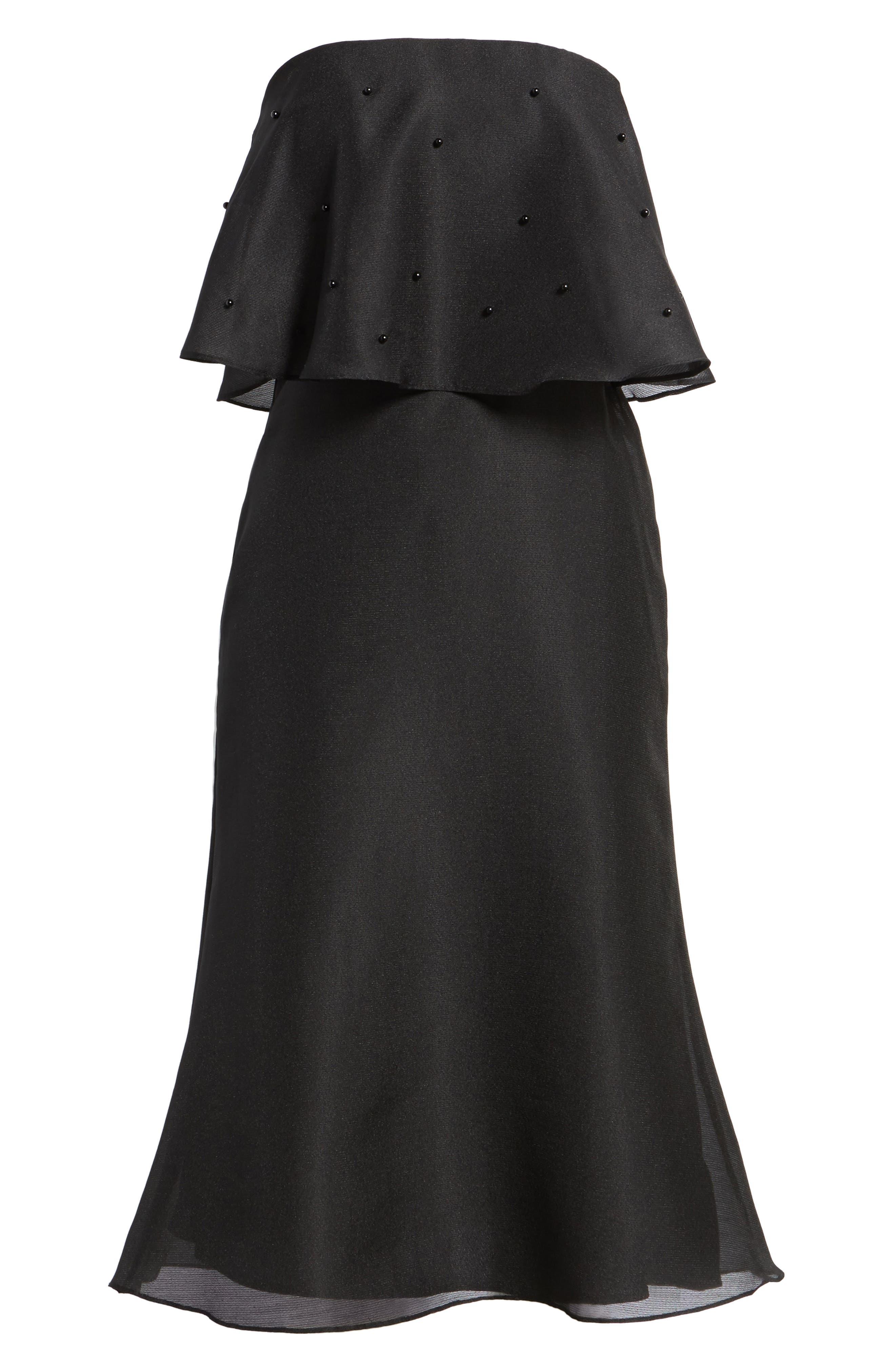 Call Me Strapless Dress,                             Alternate thumbnail 7, color,                             001