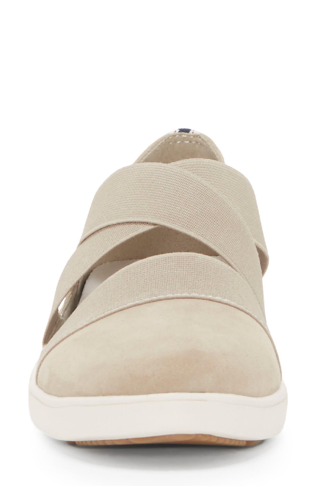 Alskara Slip-On Sneaker Flat,                             Alternate thumbnail 4, color,                             BRINDLE SUEDE