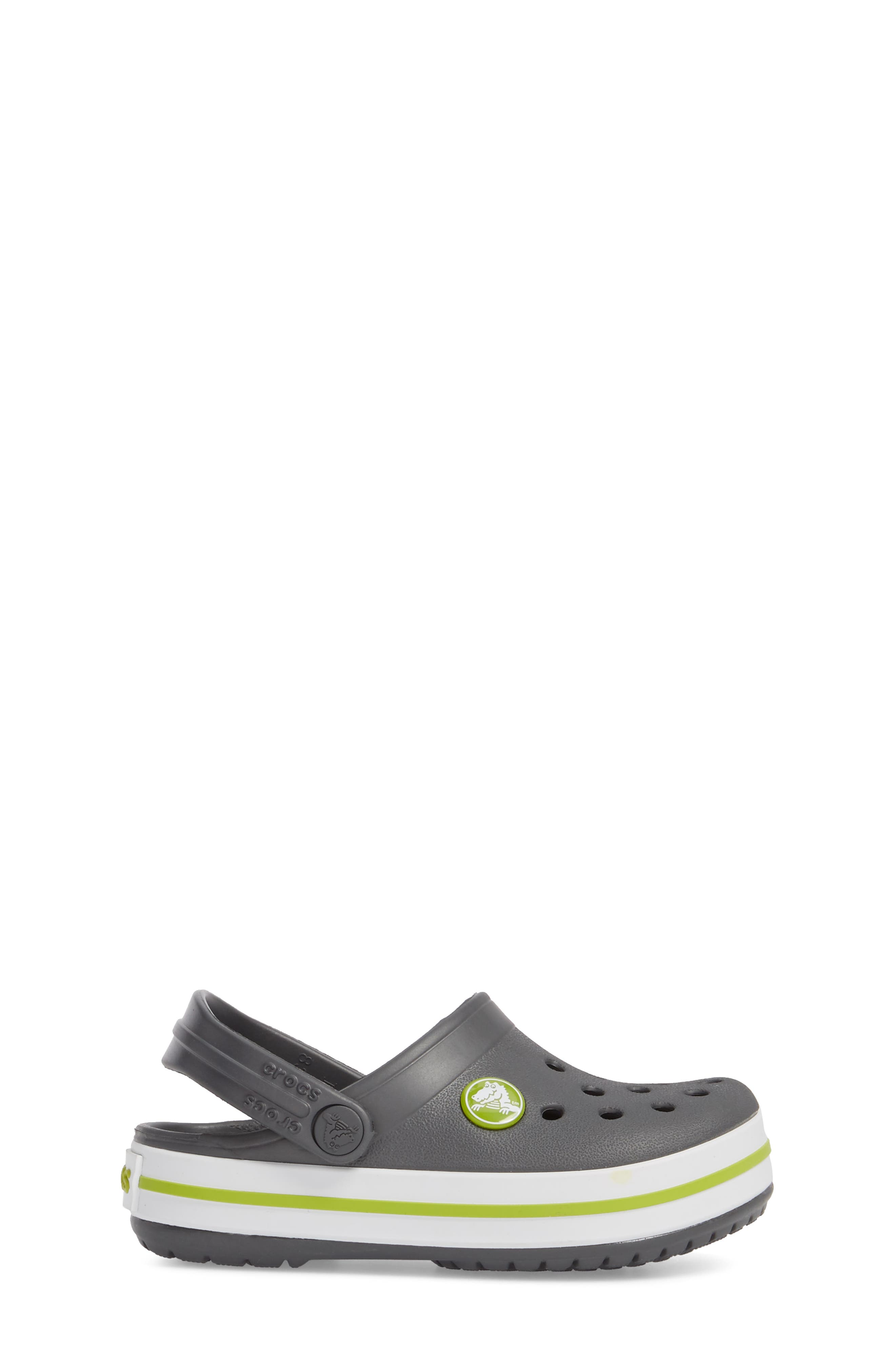 Crocband Clog,                             Alternate thumbnail 3, color,                             GRAPHITE/ GREEN