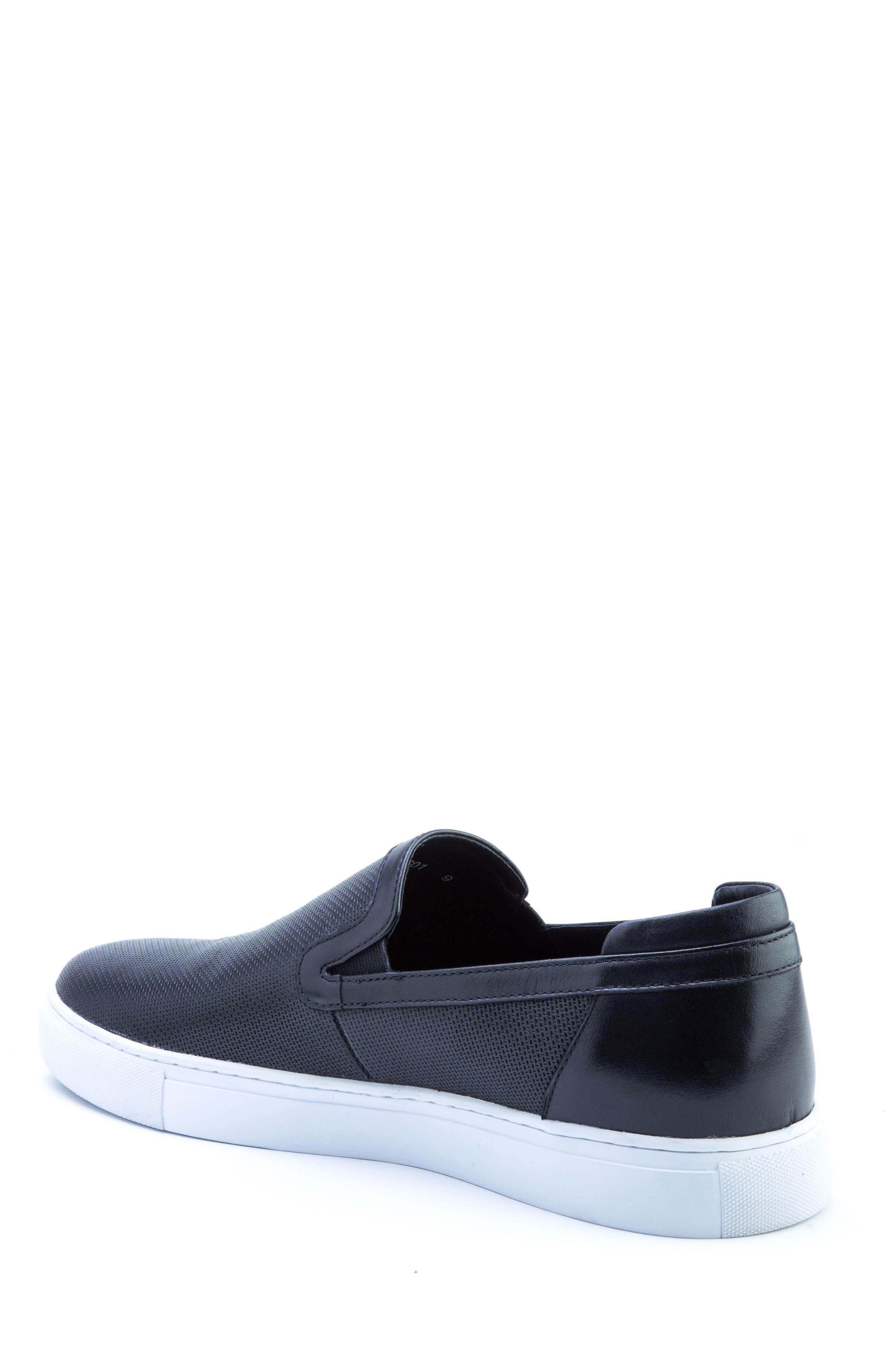 Grant Sneaker,                             Alternate thumbnail 2, color,                             BLACK LEATHER