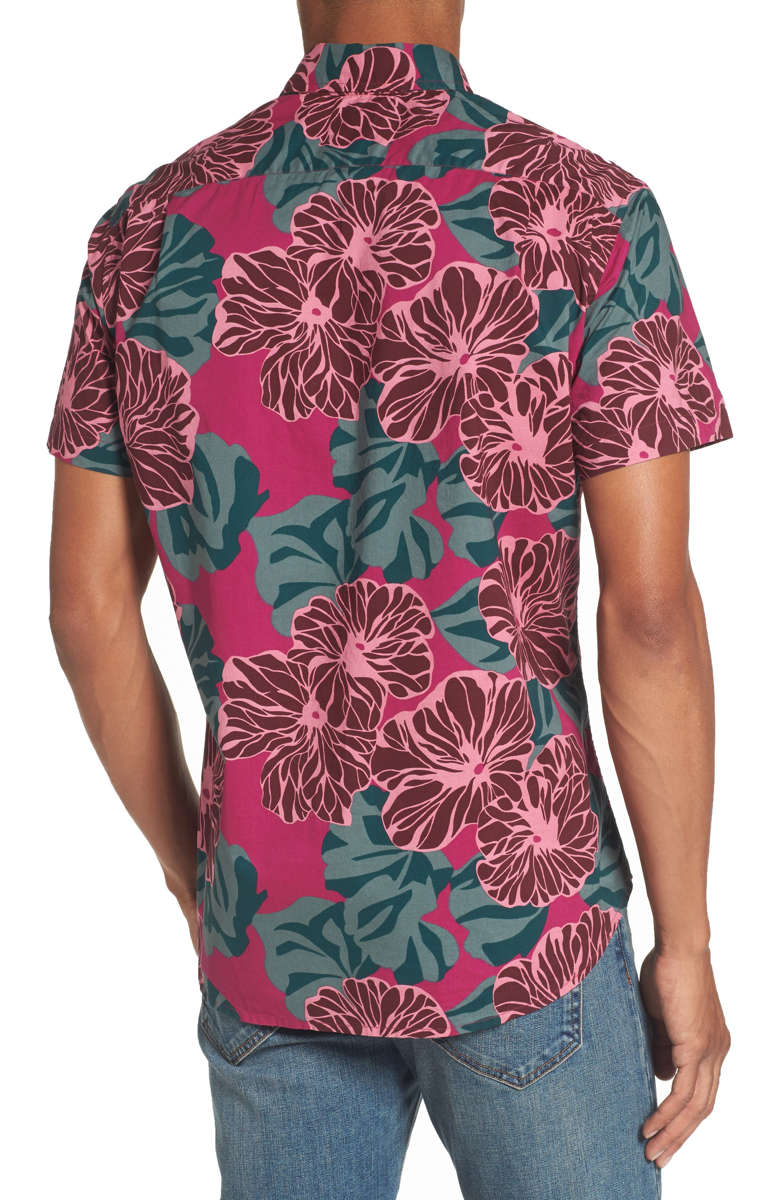 Riviera Slim Fit Short Sleeve Sport Shirt,                             Alternate thumbnail 2, color,                             650