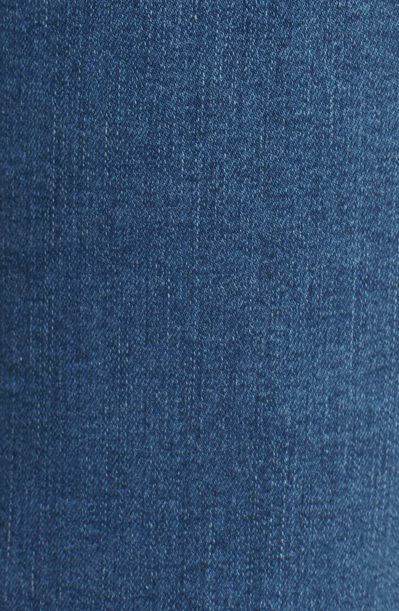Mile High Super Skinny Jeans,                             Alternate thumbnail 6, color,                             MED BLUE 1