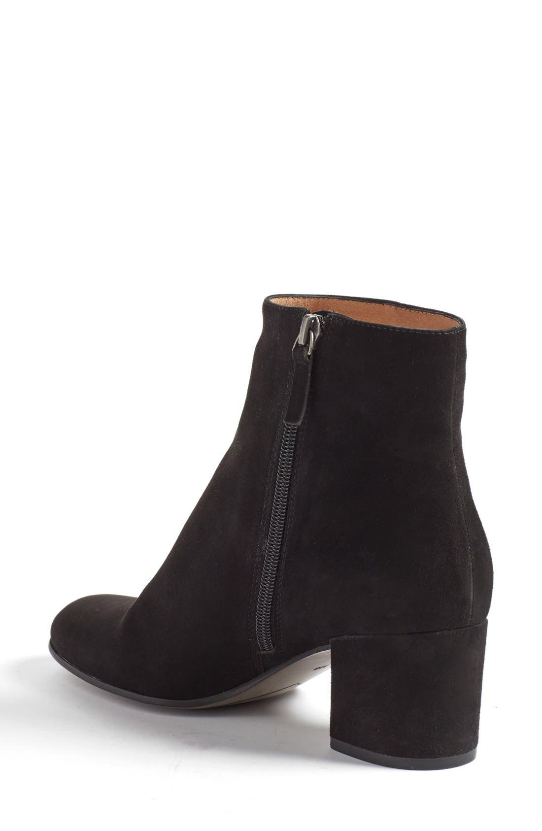 'Cori' Round Toe Bootie,                             Alternate thumbnail 2, color,                             001
