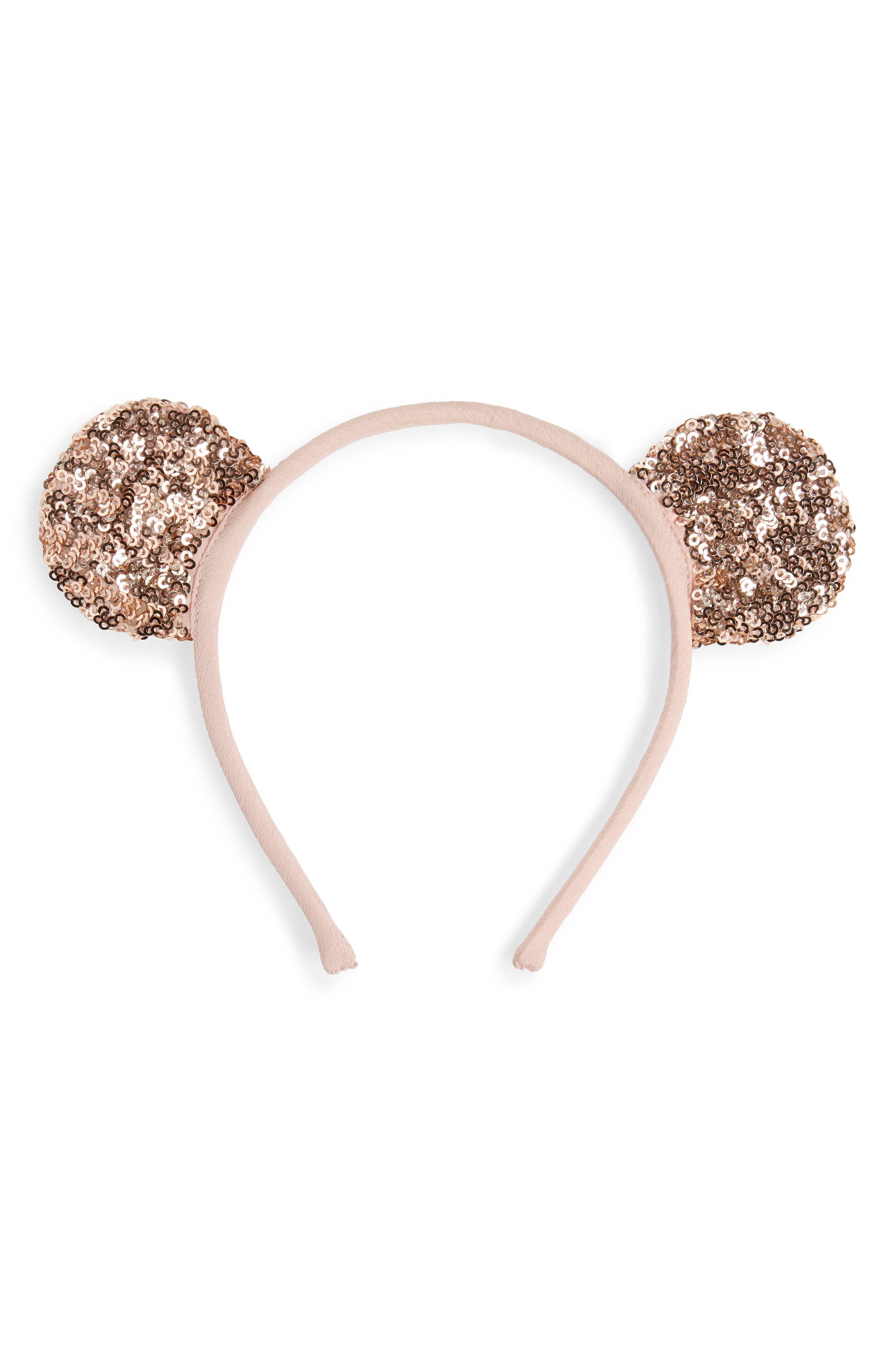 Sequin Bear Ear Headband,                             Main thumbnail 1, color,                             710