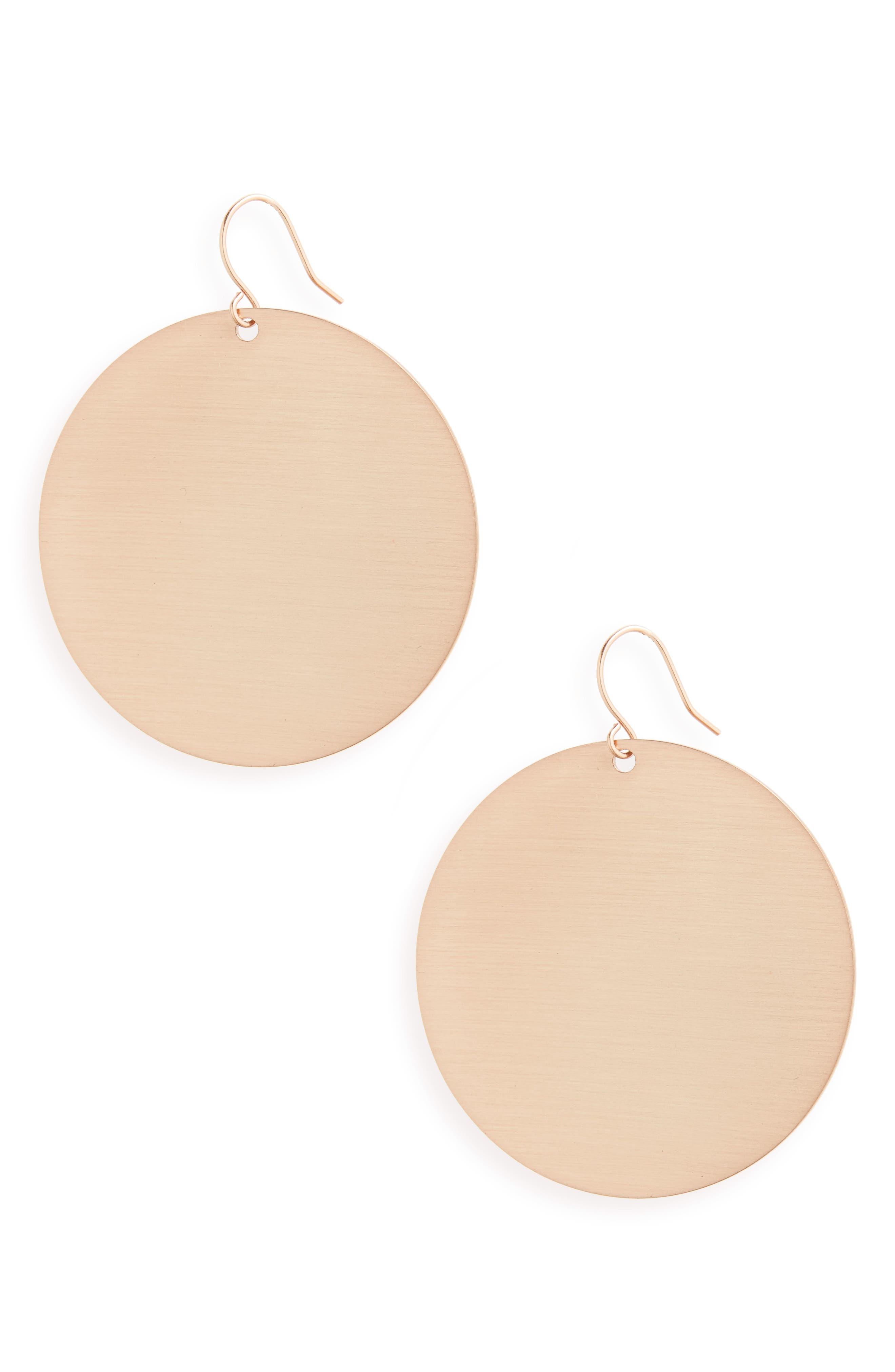 Disc Earrings,                         Main,                         color,