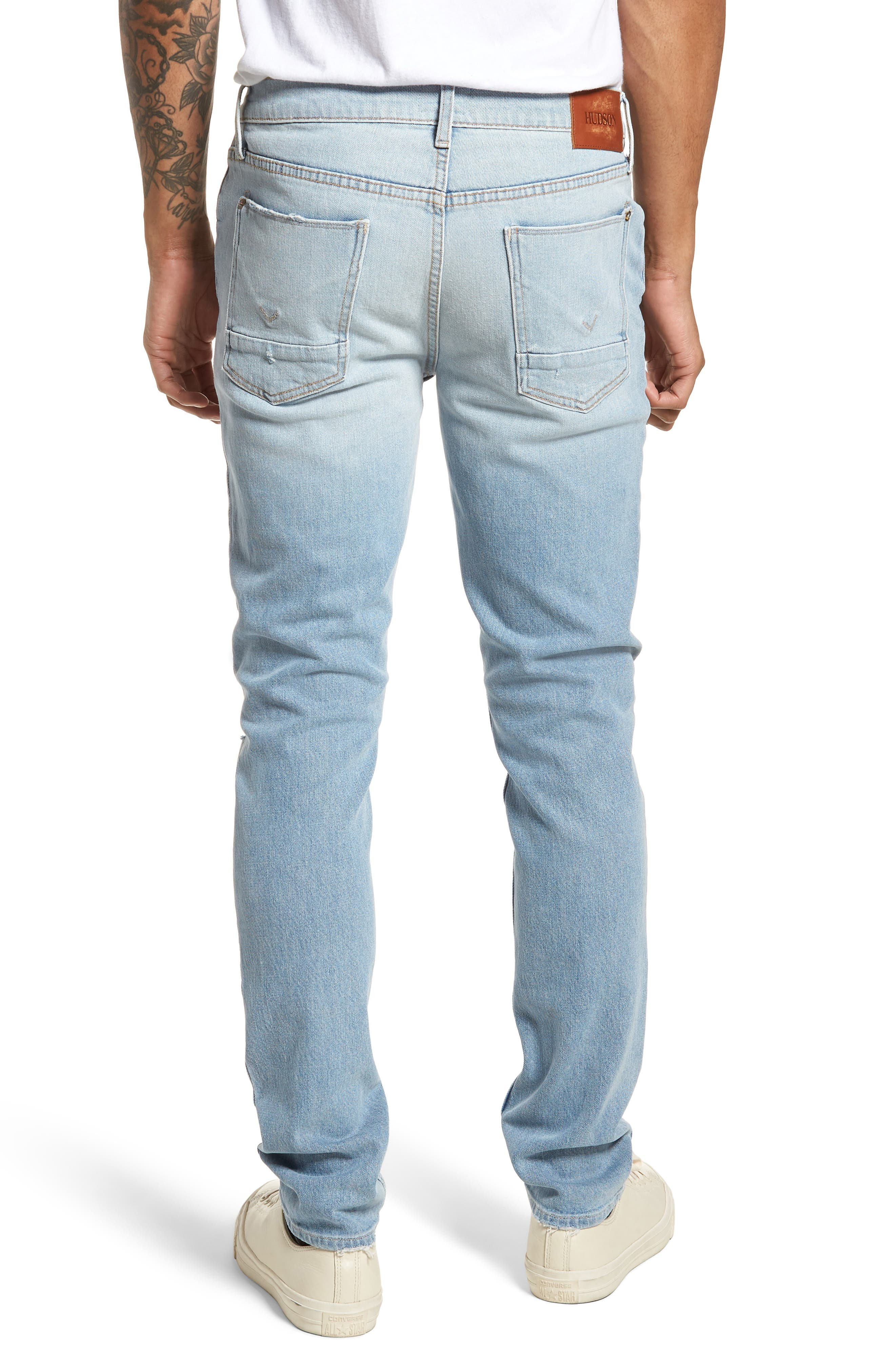 Axl Skinny Fit Jeans,                             Alternate thumbnail 2, color,                             BLAZE