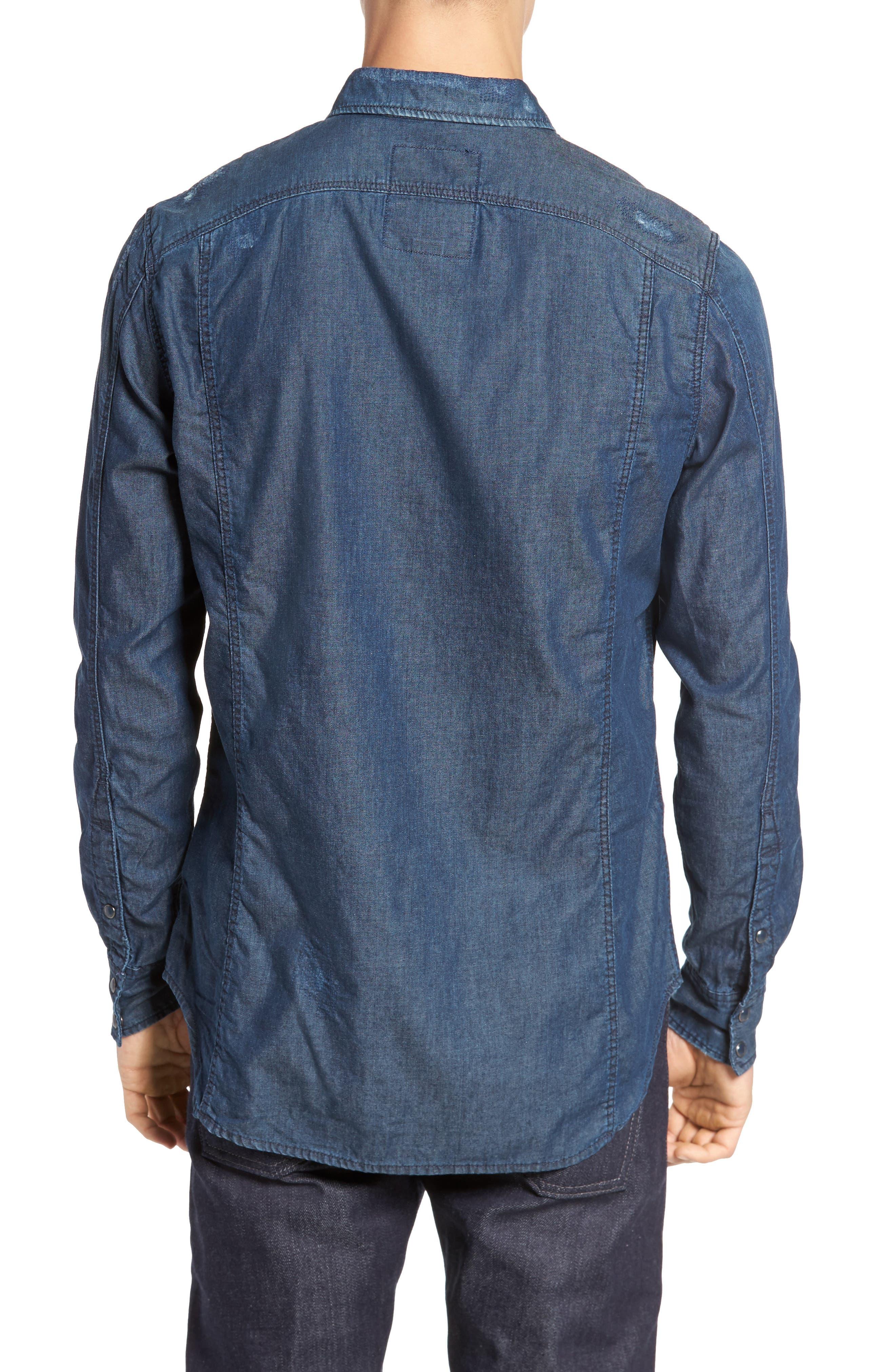 Kinney Denim Shirt,                             Alternate thumbnail 2, color,