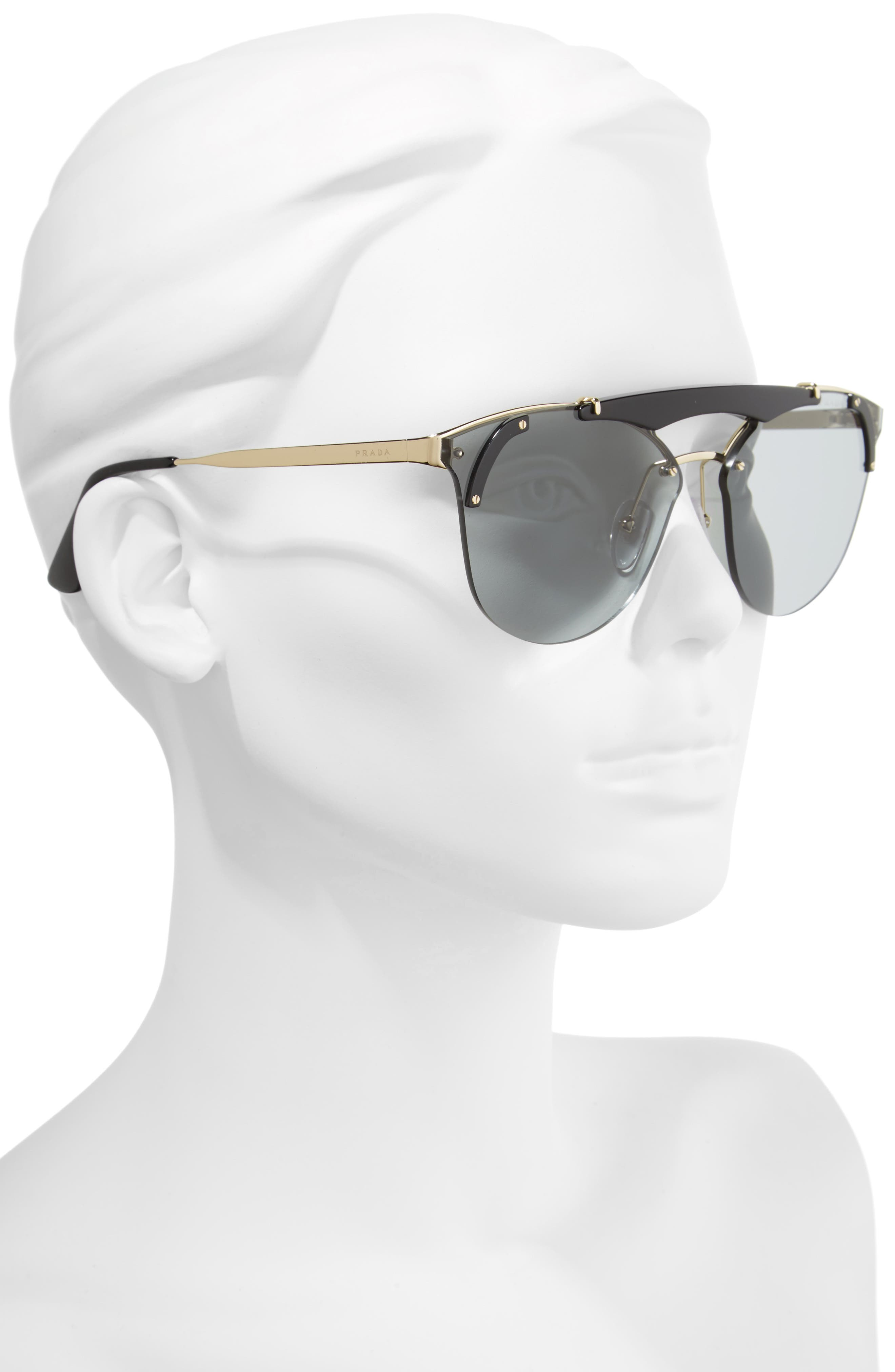 53mm Round Sunglasses,                             Alternate thumbnail 3, color,                             710