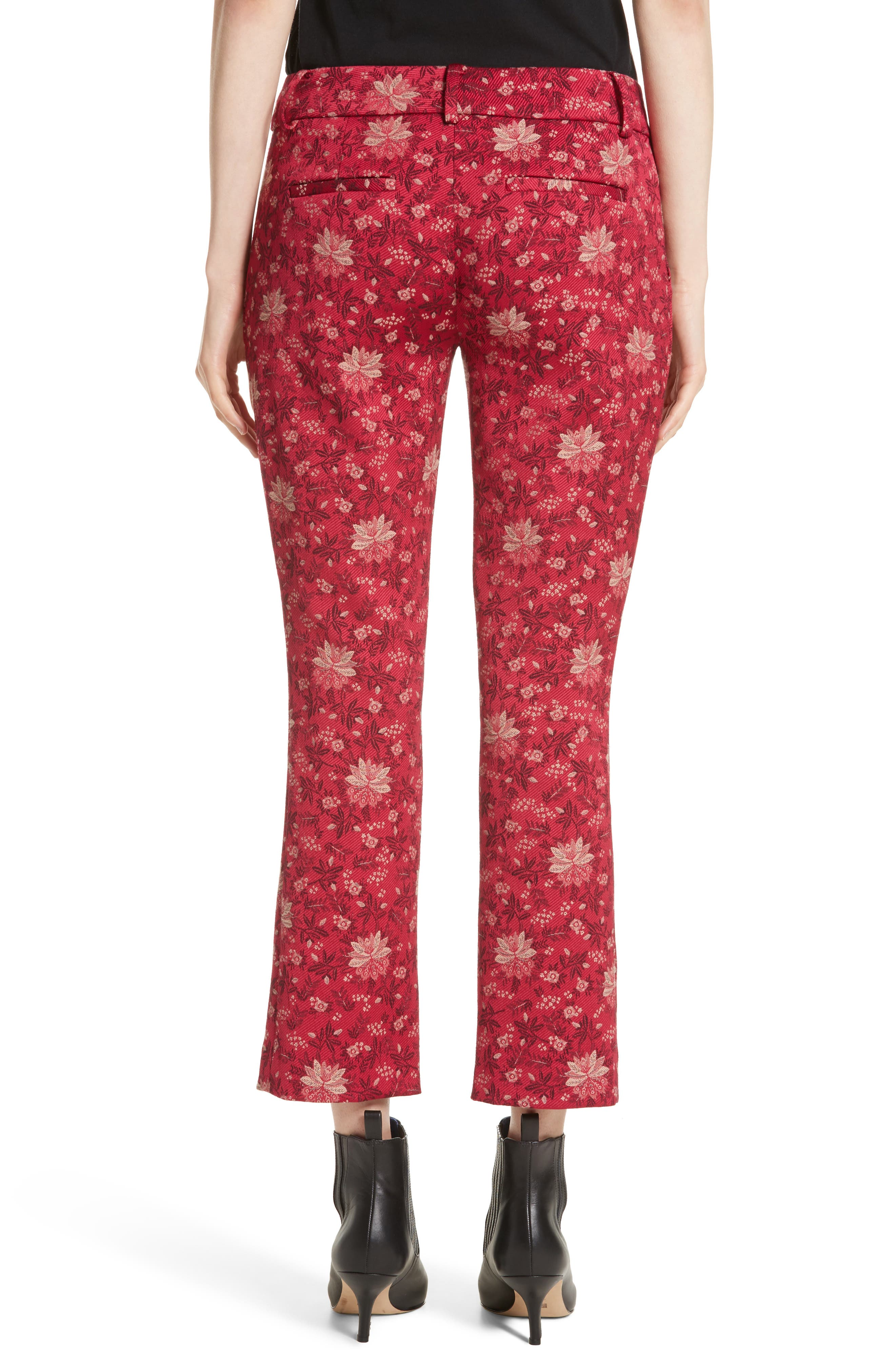 Stacey Crop Flare Print Pants,                             Alternate thumbnail 2, color,                             650