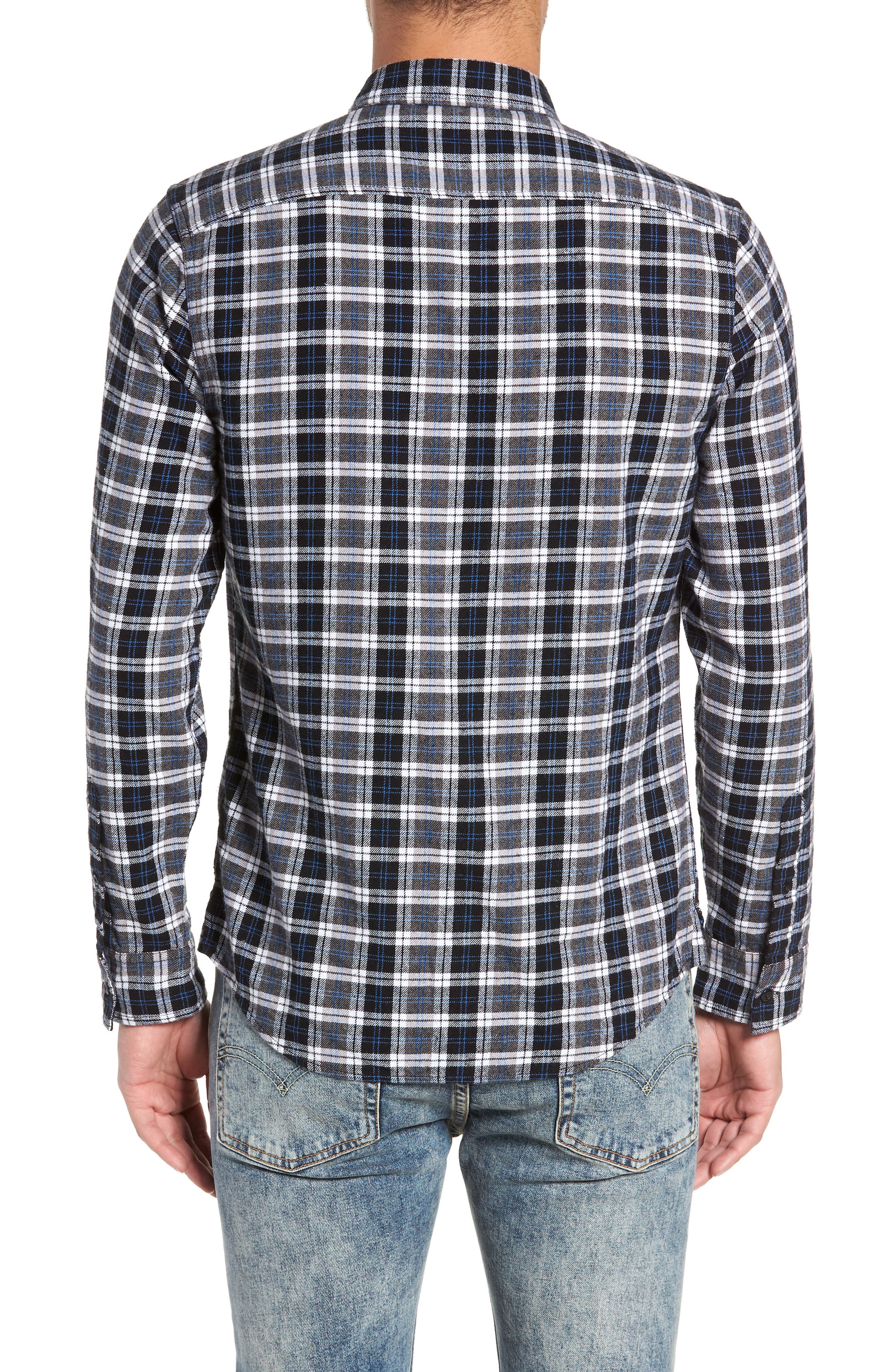 Plaid Flannel Shirt,                             Alternate thumbnail 2, color,                             030