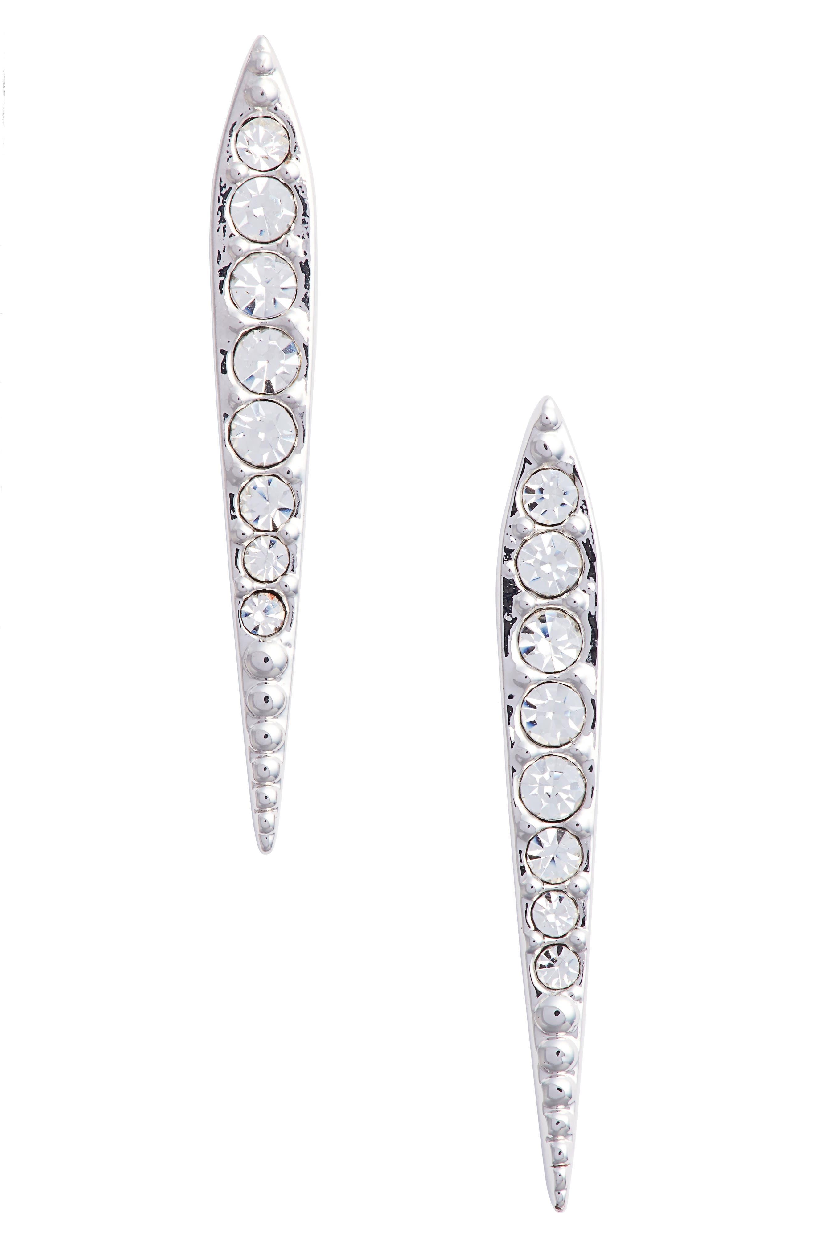 Cubic Zirconia Drop Earrings,                             Main thumbnail 1, color,                             040