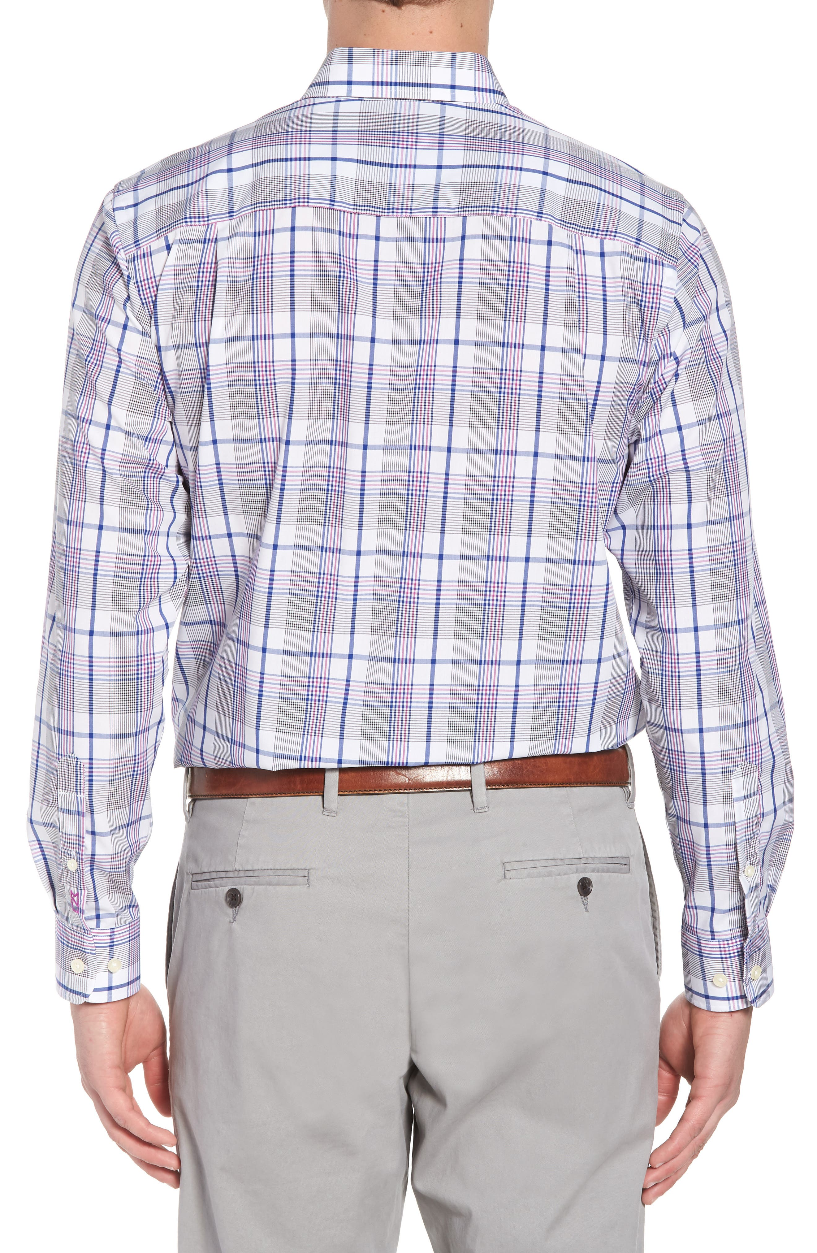 Aidan Non-Iron Plaid Sport Shirt,                             Alternate thumbnail 2, color,                             419