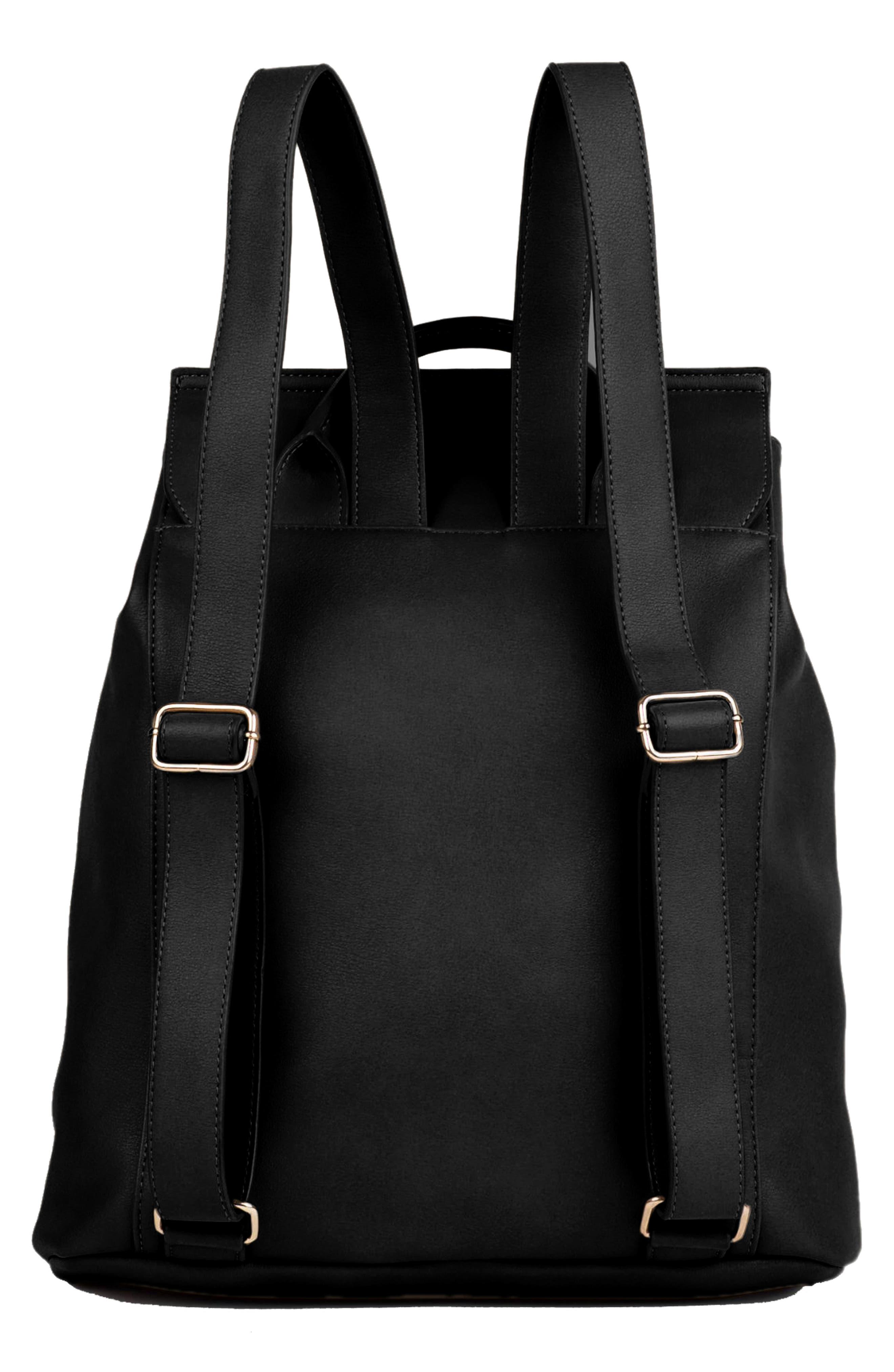 The Thrill Vegan Leather Backpack,                             Alternate thumbnail 2, color,                             BLACK
