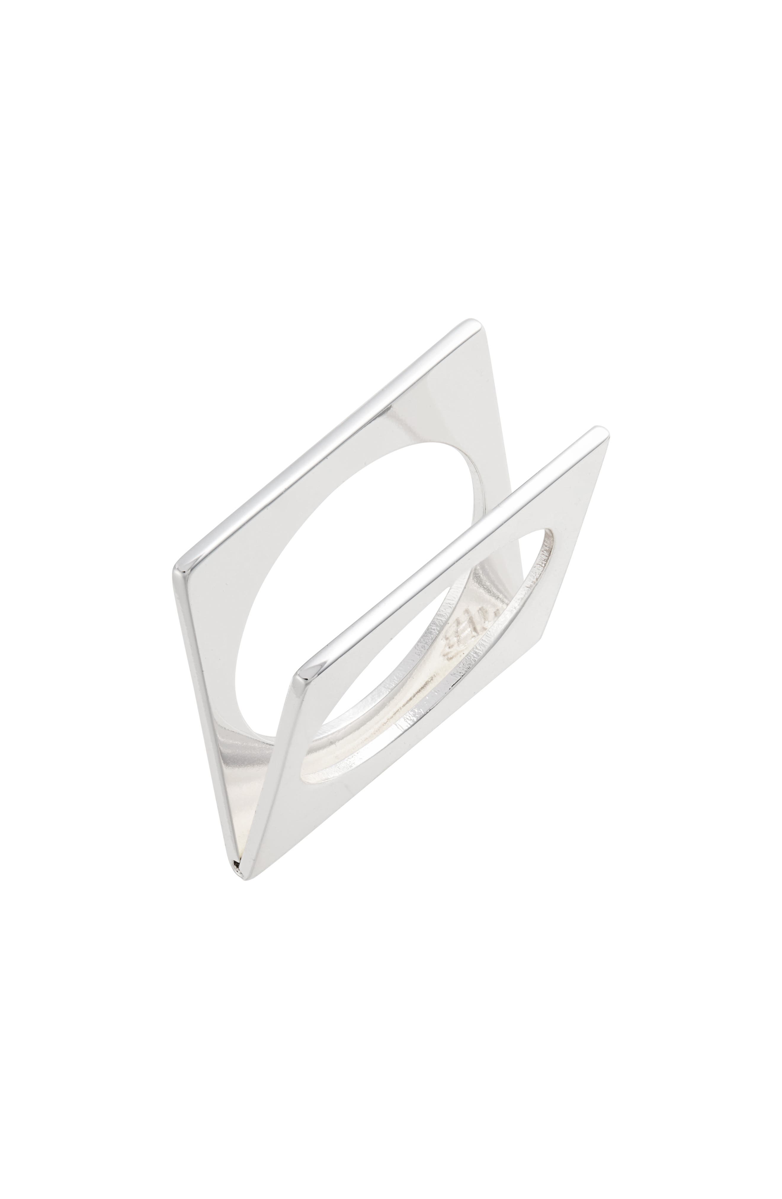 JENNY BIRD For The Love Square Ring in Silver