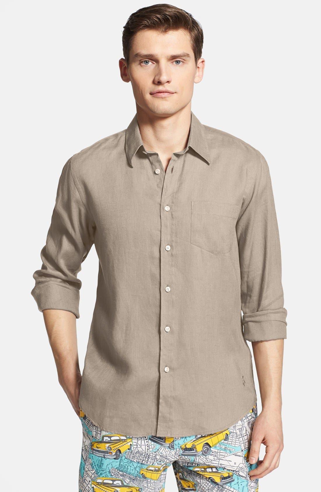 'Caroubier' Linen Shirt,                             Main thumbnail 5, color,