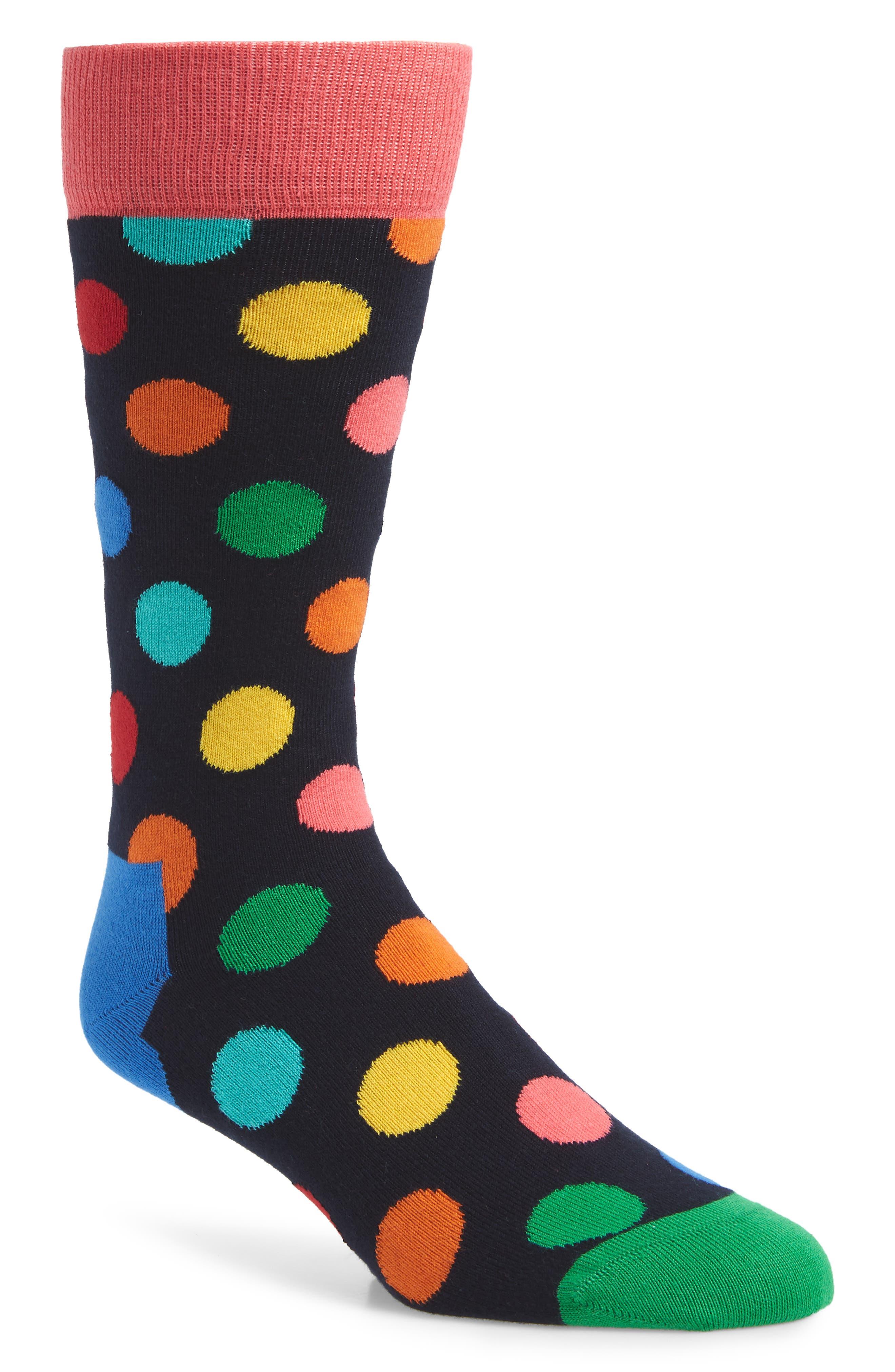 Big Dots Socks,                             Main thumbnail 1, color,                             BLUE MULTI