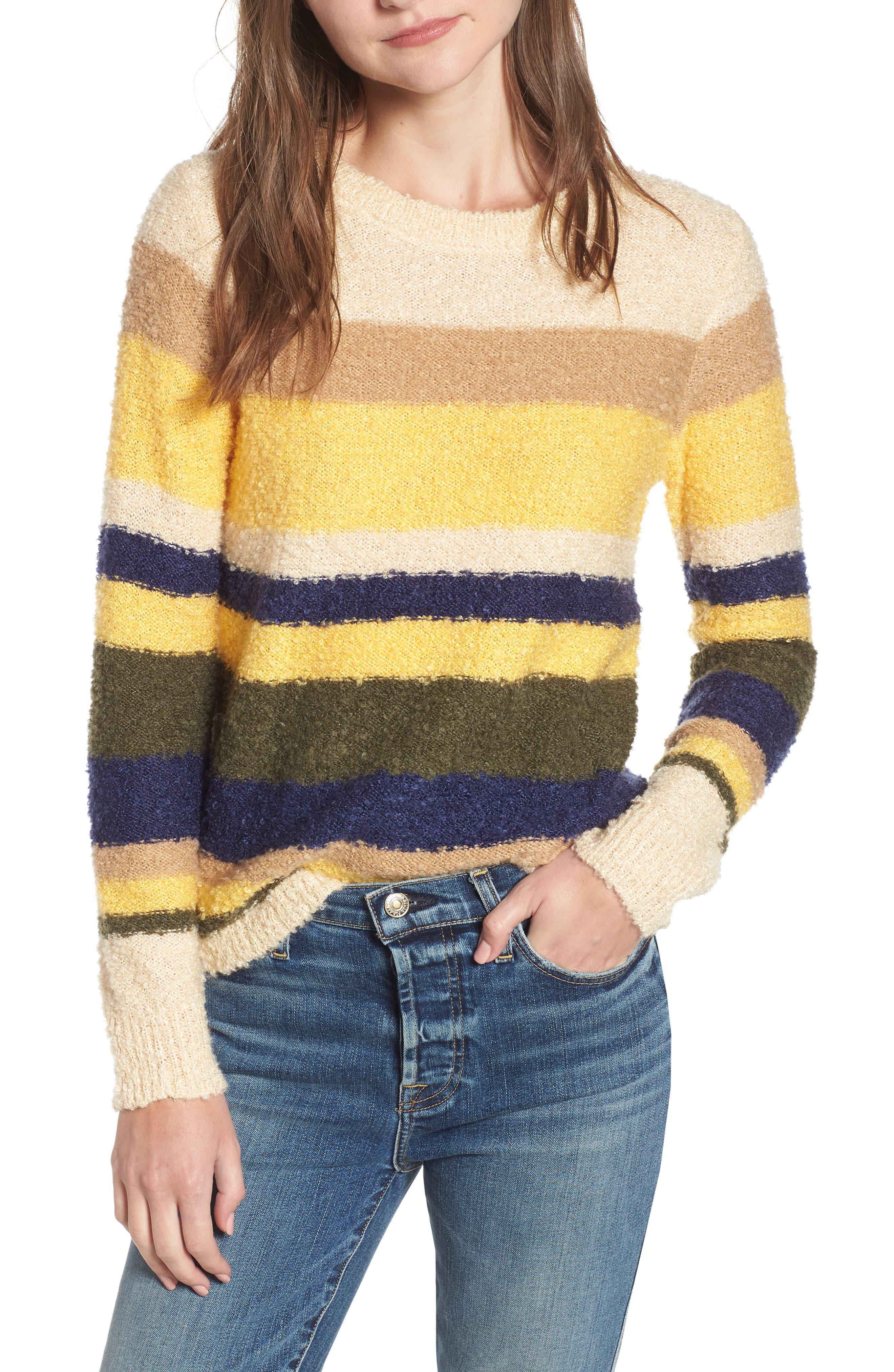 Multicolored Sweater in Yellow Multi Stripe