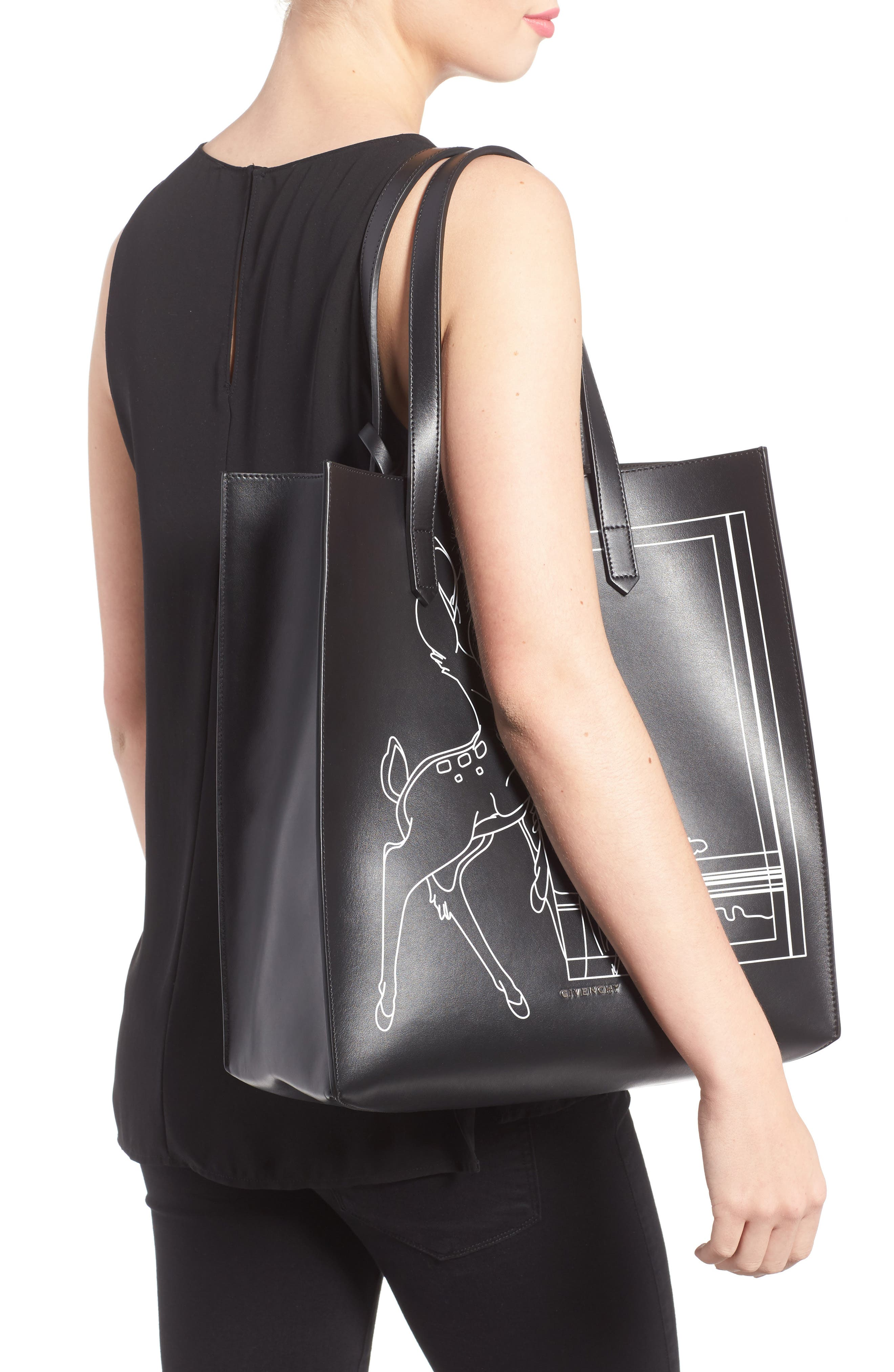 Medium Stargate Bambi<sup>™</sup> Leather Tote,                             Alternate thumbnail 2, color,                             001
