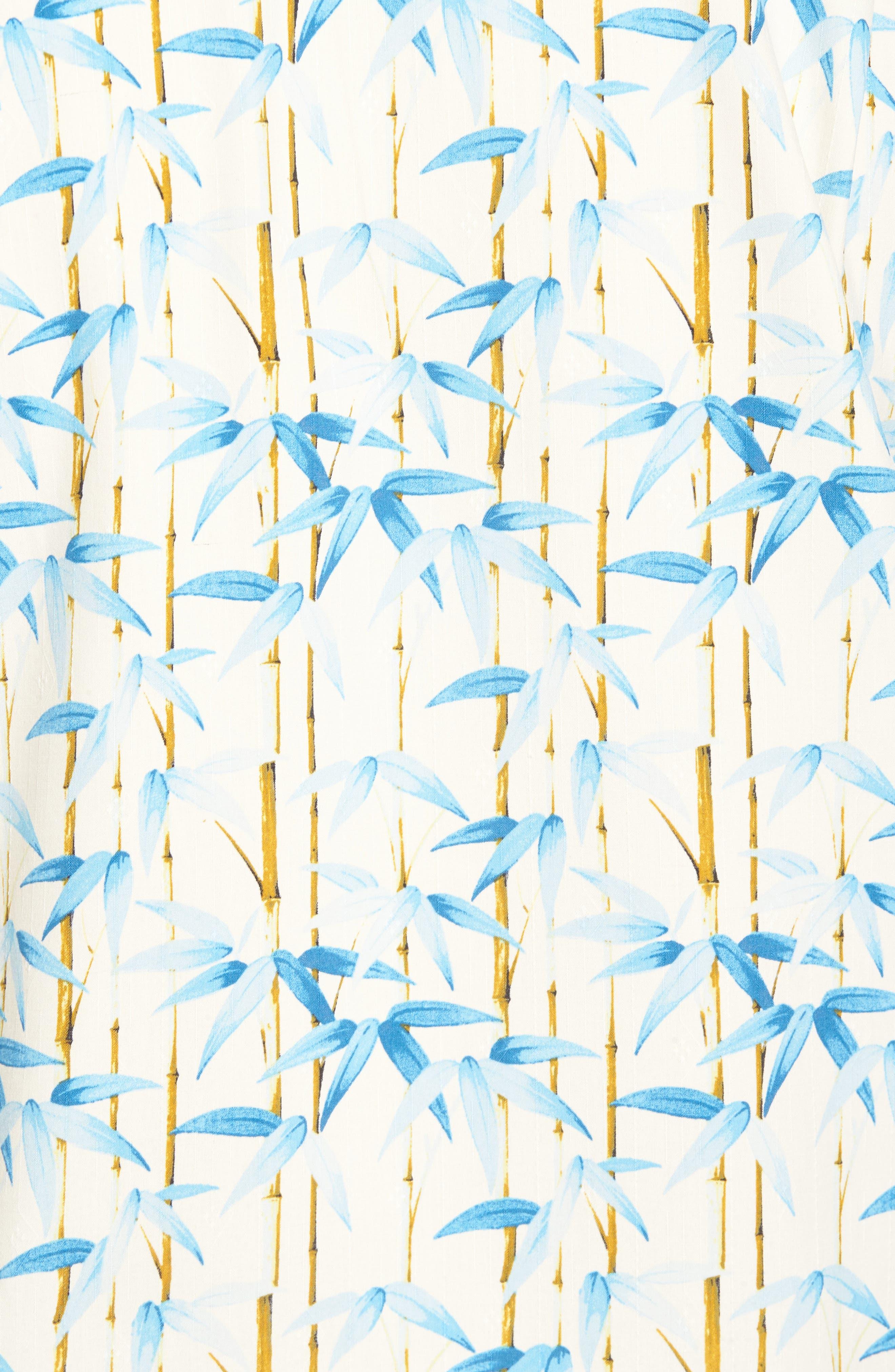 TOMMY BAHAMA,                             Forest Print Silk Sport Shirt,                             Alternate thumbnail 5, color,                             100