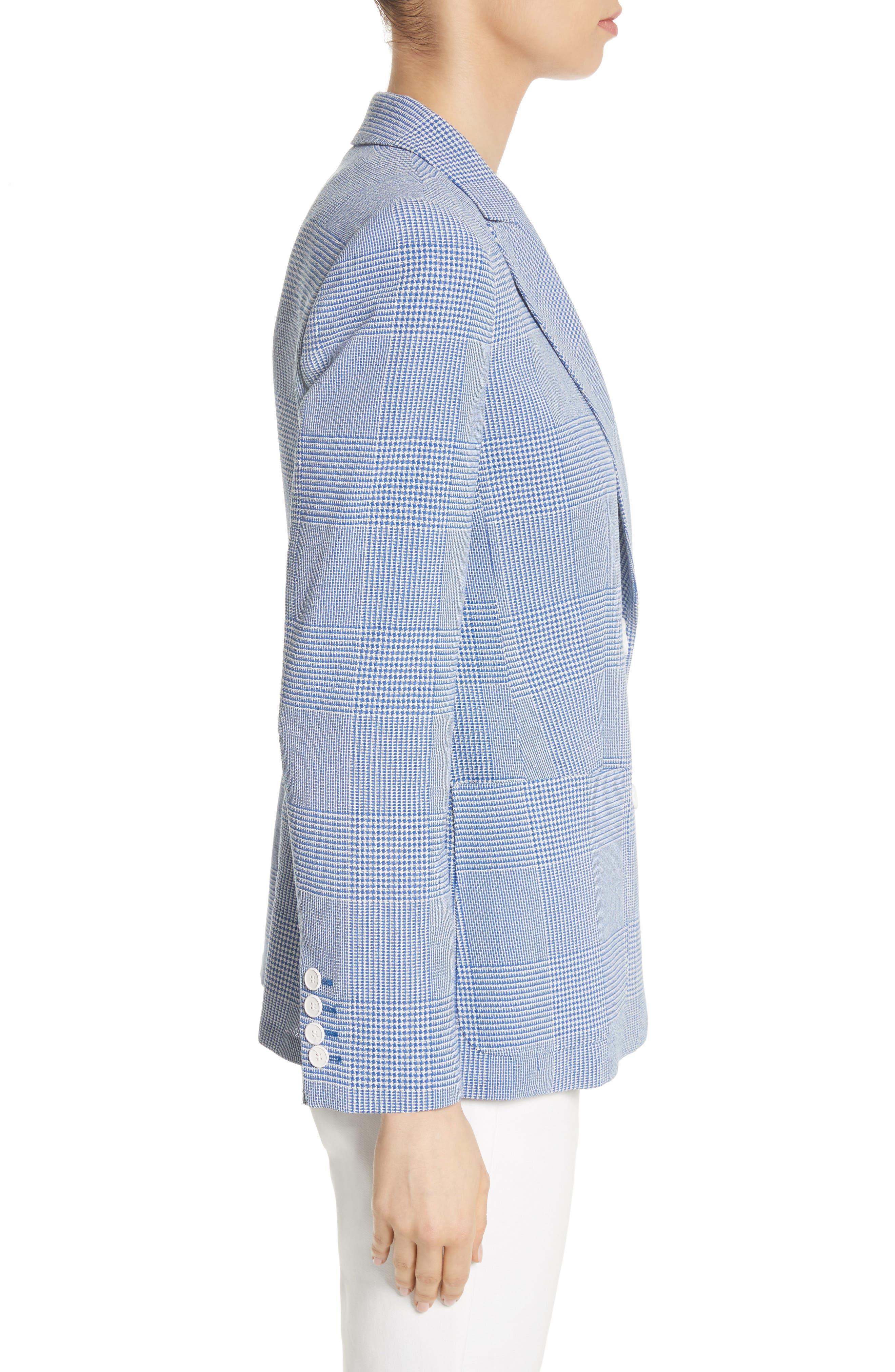 Ballata Check Wool Blazer,                             Alternate thumbnail 3, color,                             404