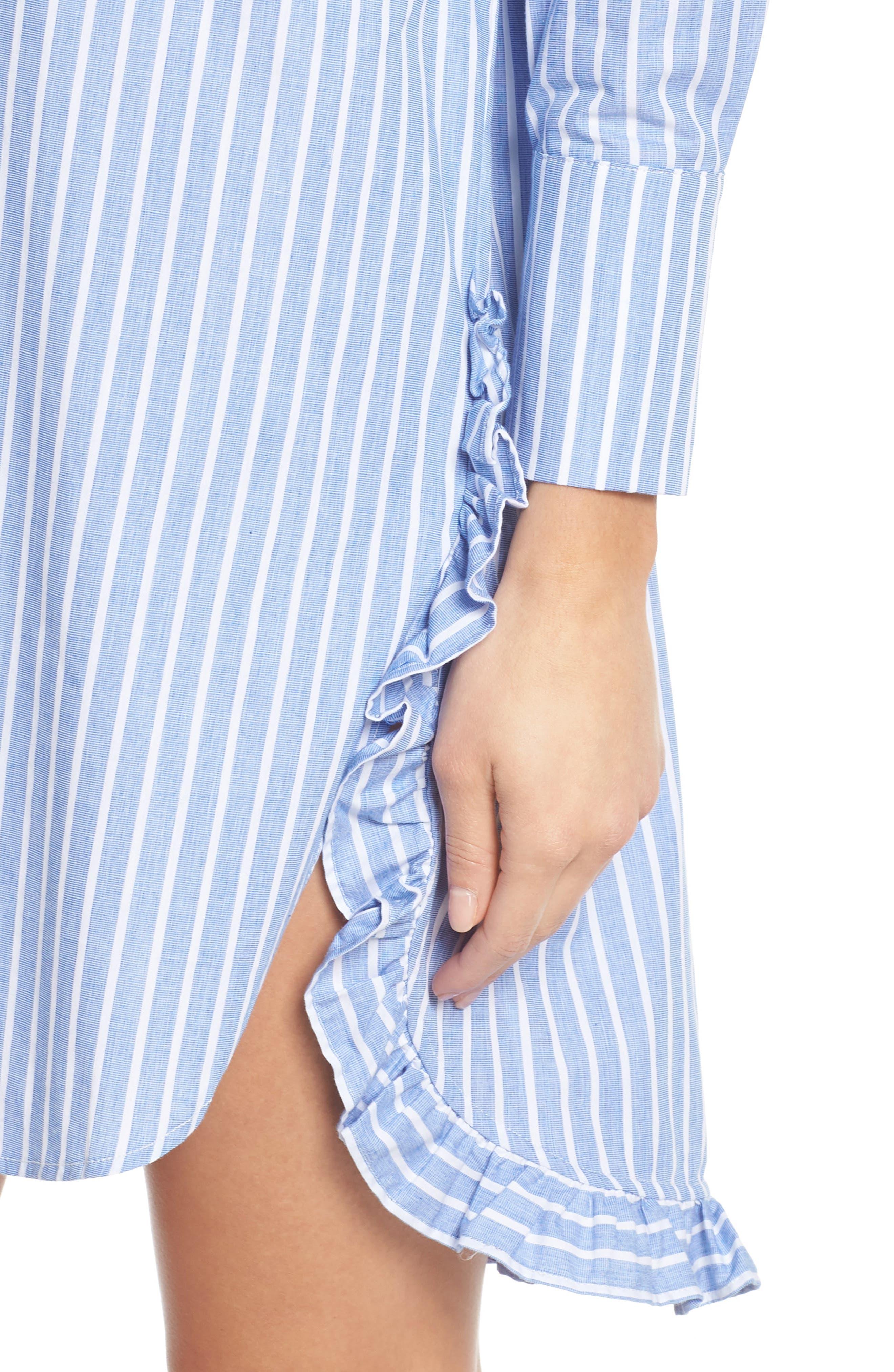 Stripe Shirtdress,                             Alternate thumbnail 4, color,                             465