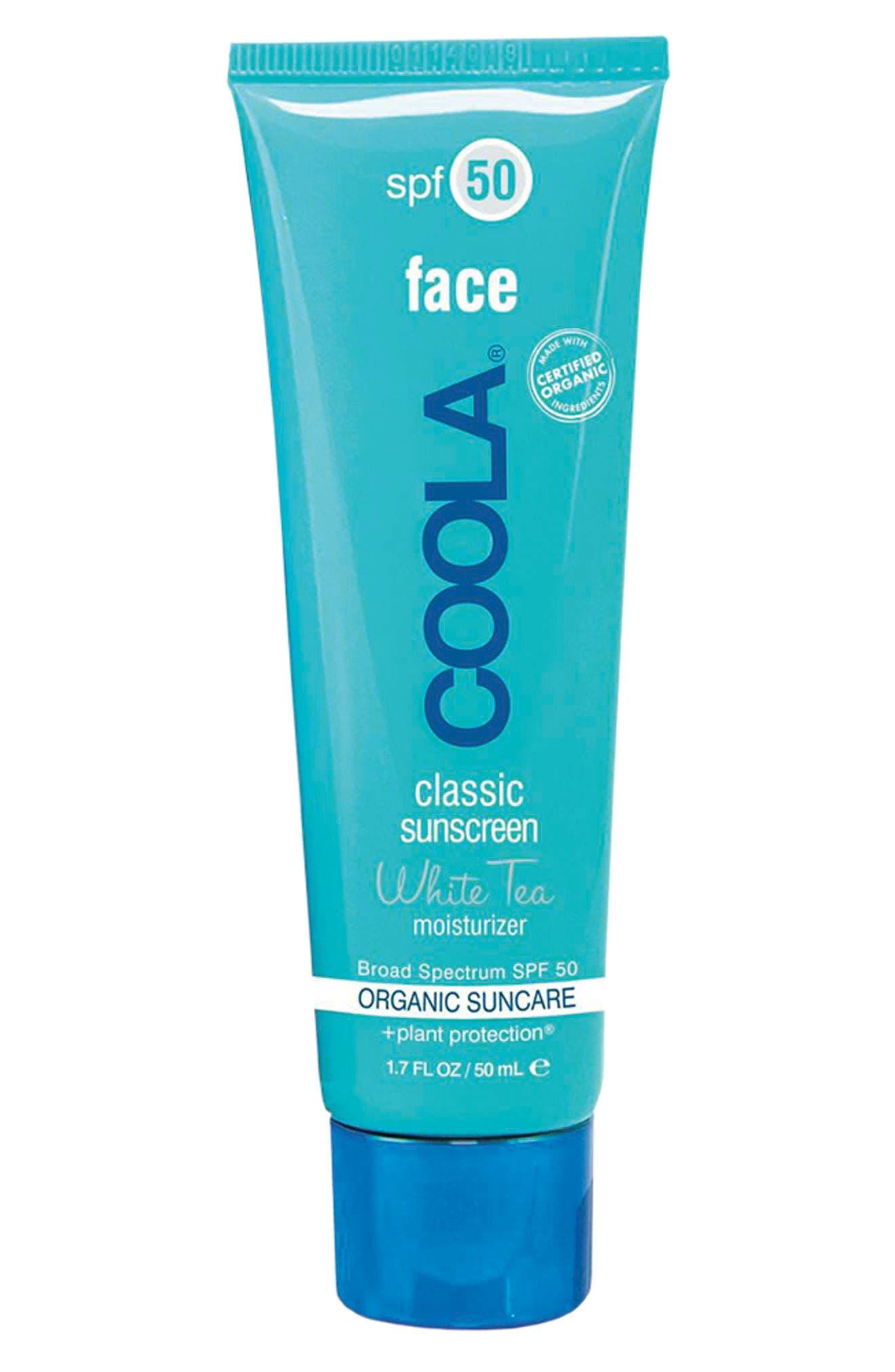 COOLA<sup>®</sup> Suncare White Tea Sport Face Moisturizer SPF 50,                             Alternate thumbnail 6, color,                             NO COLOR