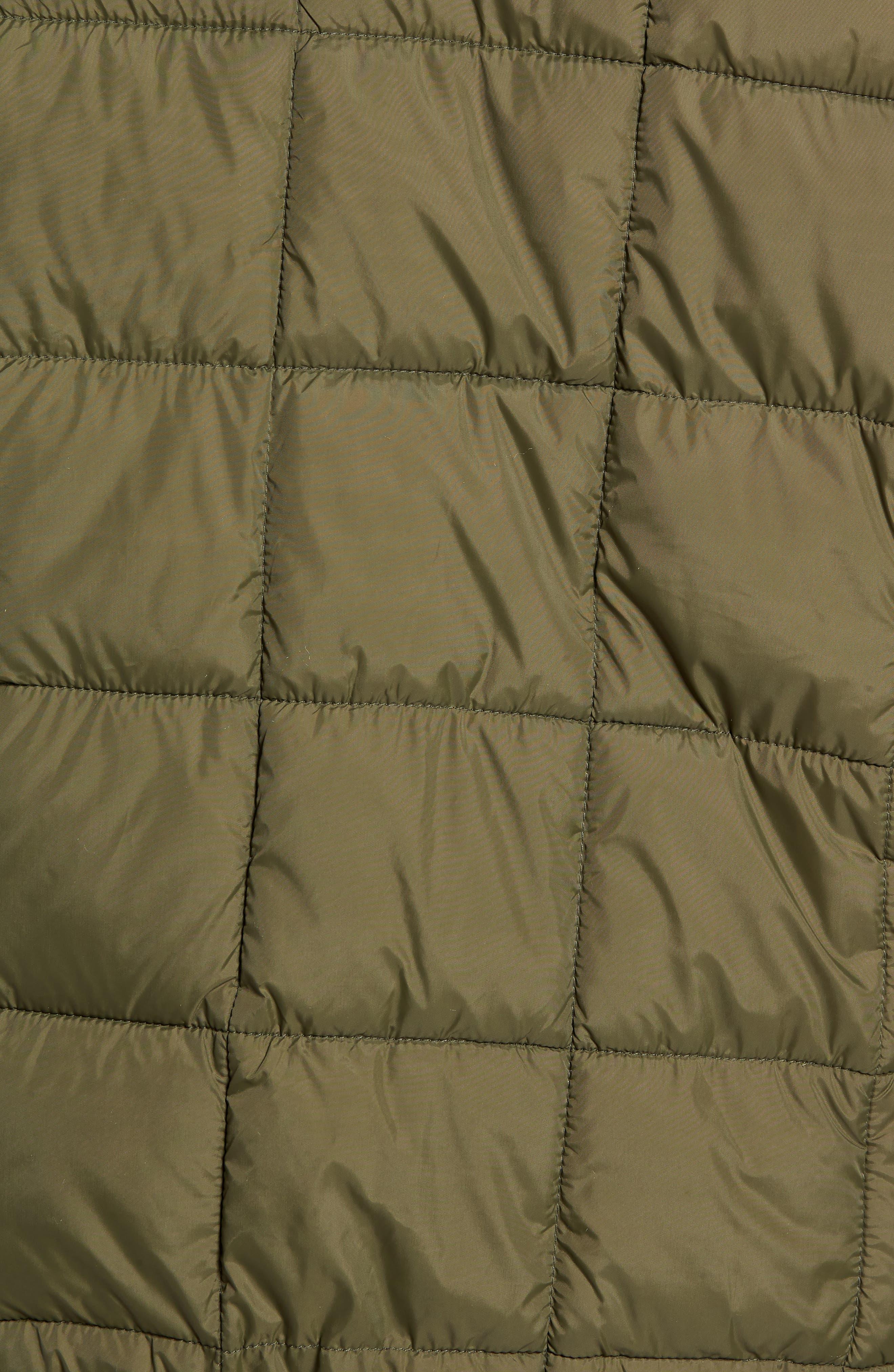 Quilted Short Jacket,                             Alternate thumbnail 7, color,                             OLIVE
