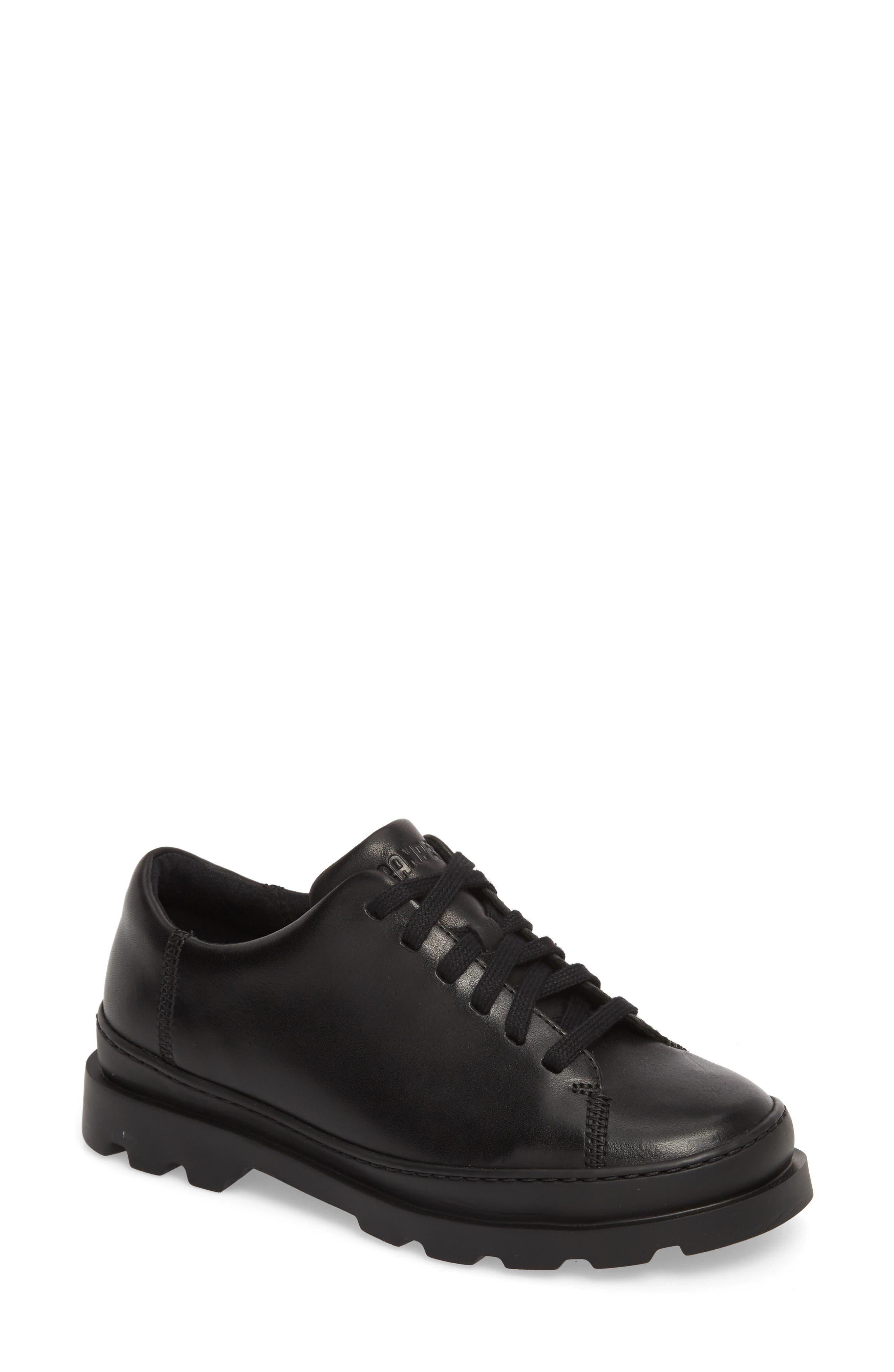 Brutus Sneaker,                         Main,                         color, BLACK LEATHER