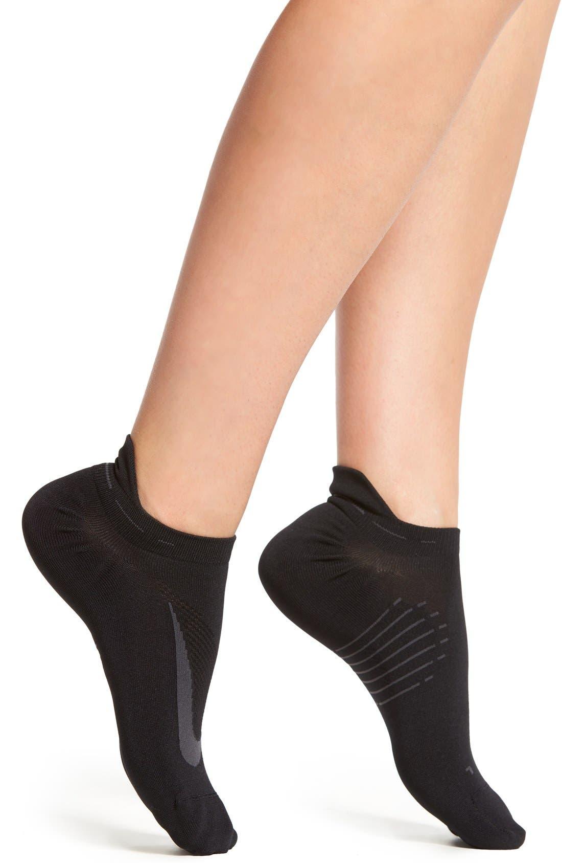'Elite' No-Show Running Socks,                         Main,                         color, 001