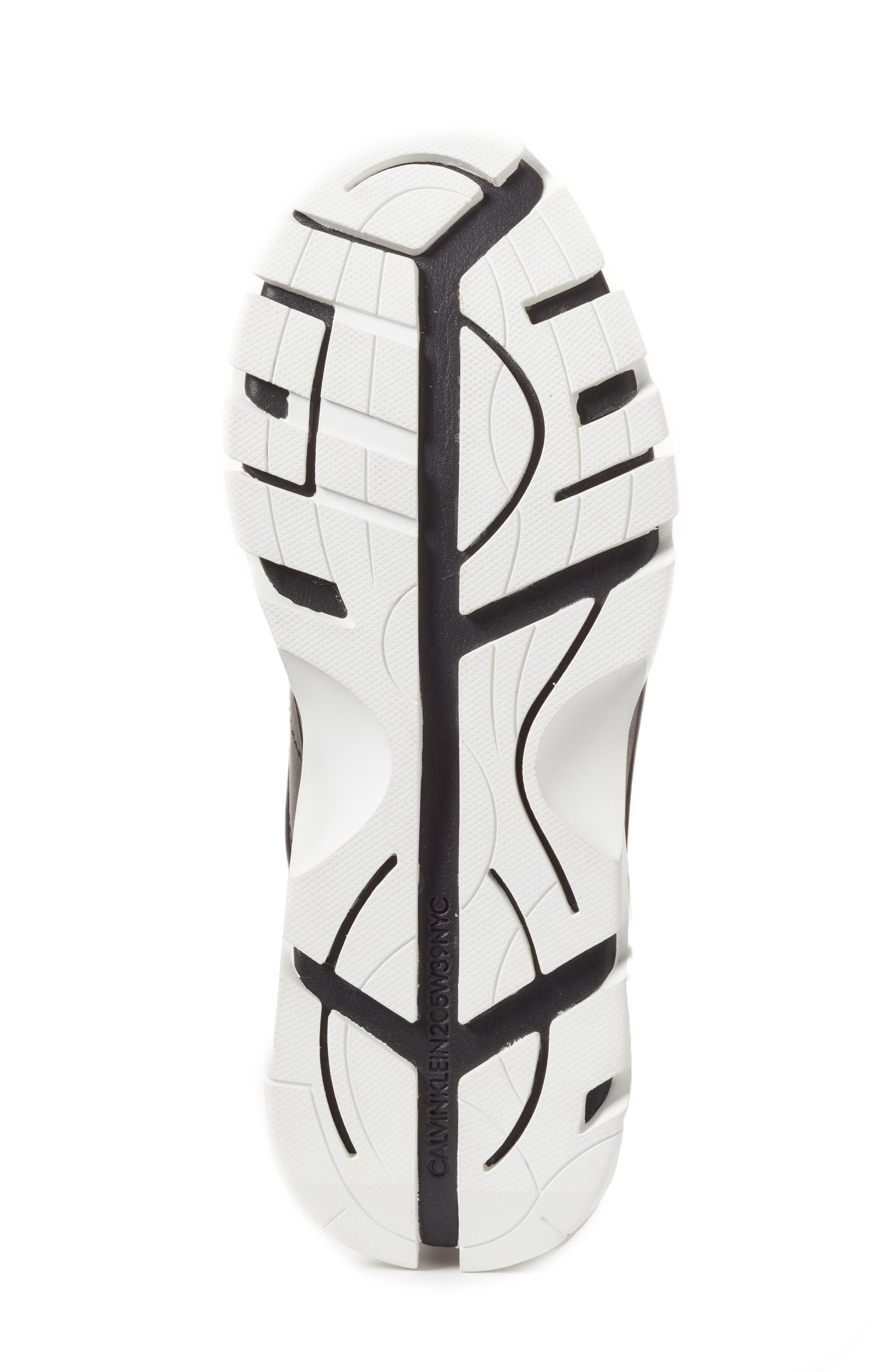 205W39NYC Carla Sneaker,                             Alternate thumbnail 6, color,                             WHITE/ BLACK