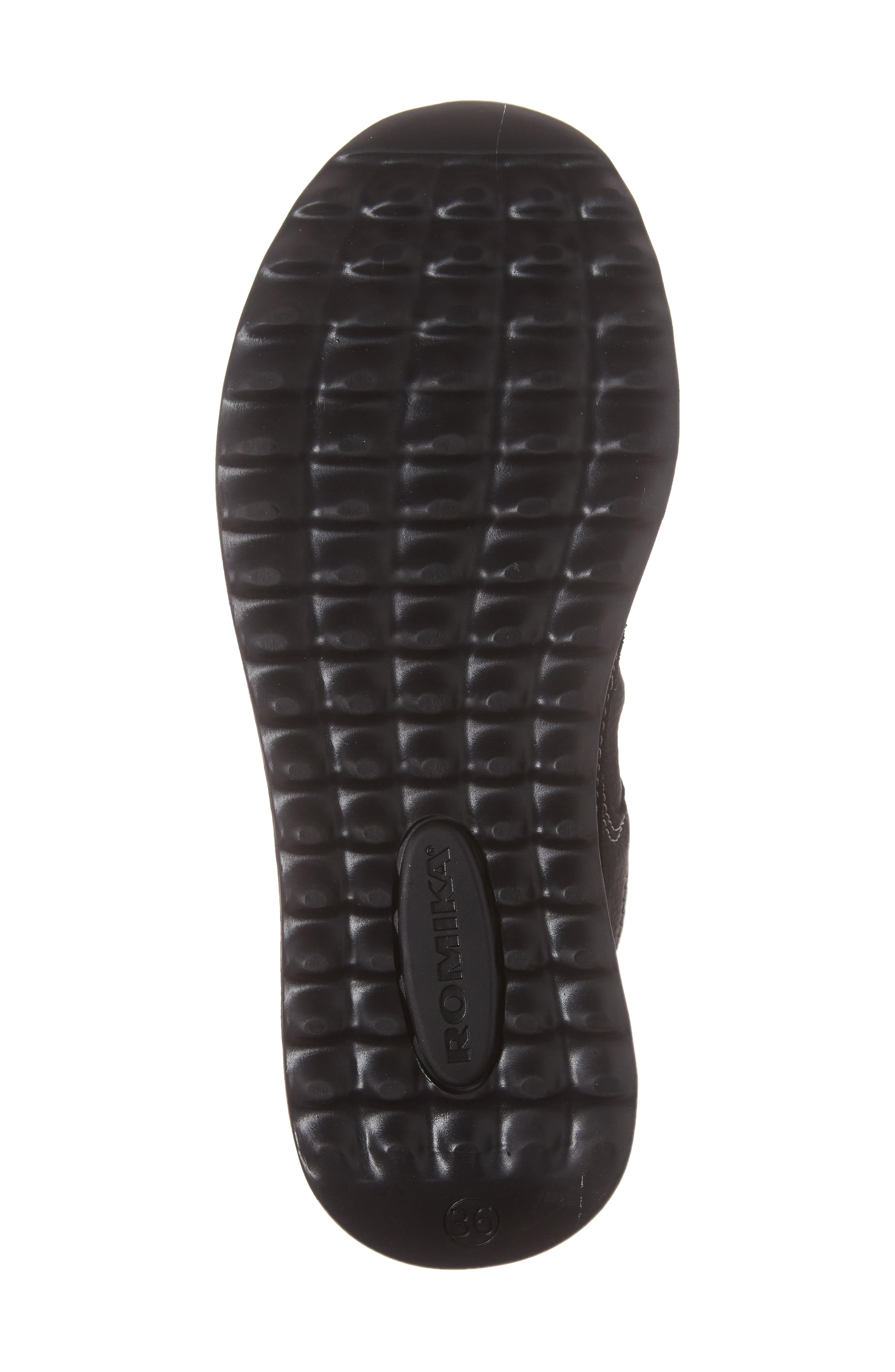 Victoria 05 Waterproof Sneaker,                             Alternate thumbnail 6, color,                             BLACK/ KOMBI LEATHER