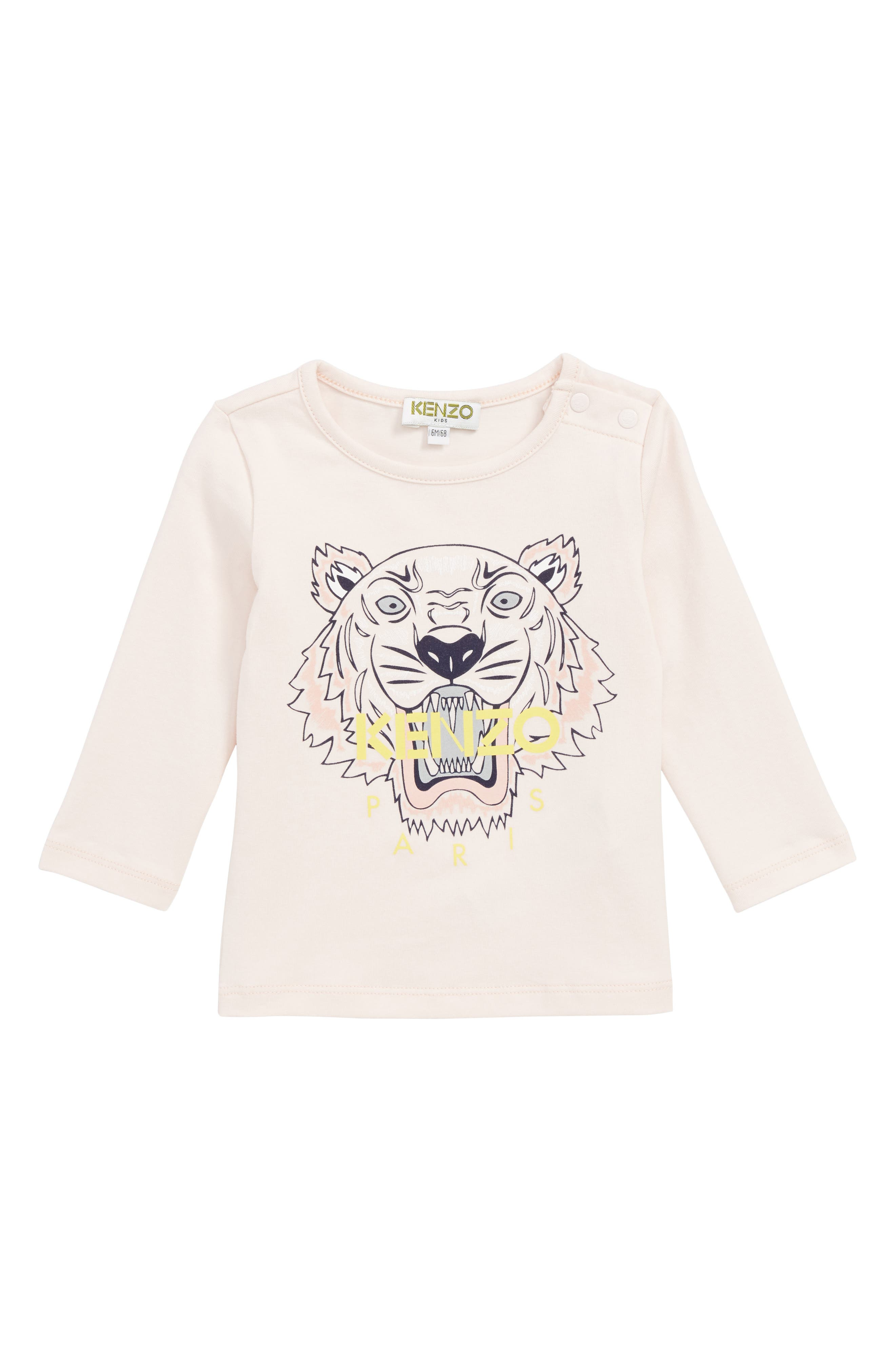 Tiger Tee,                         Main,                         color, LIGHT PINK