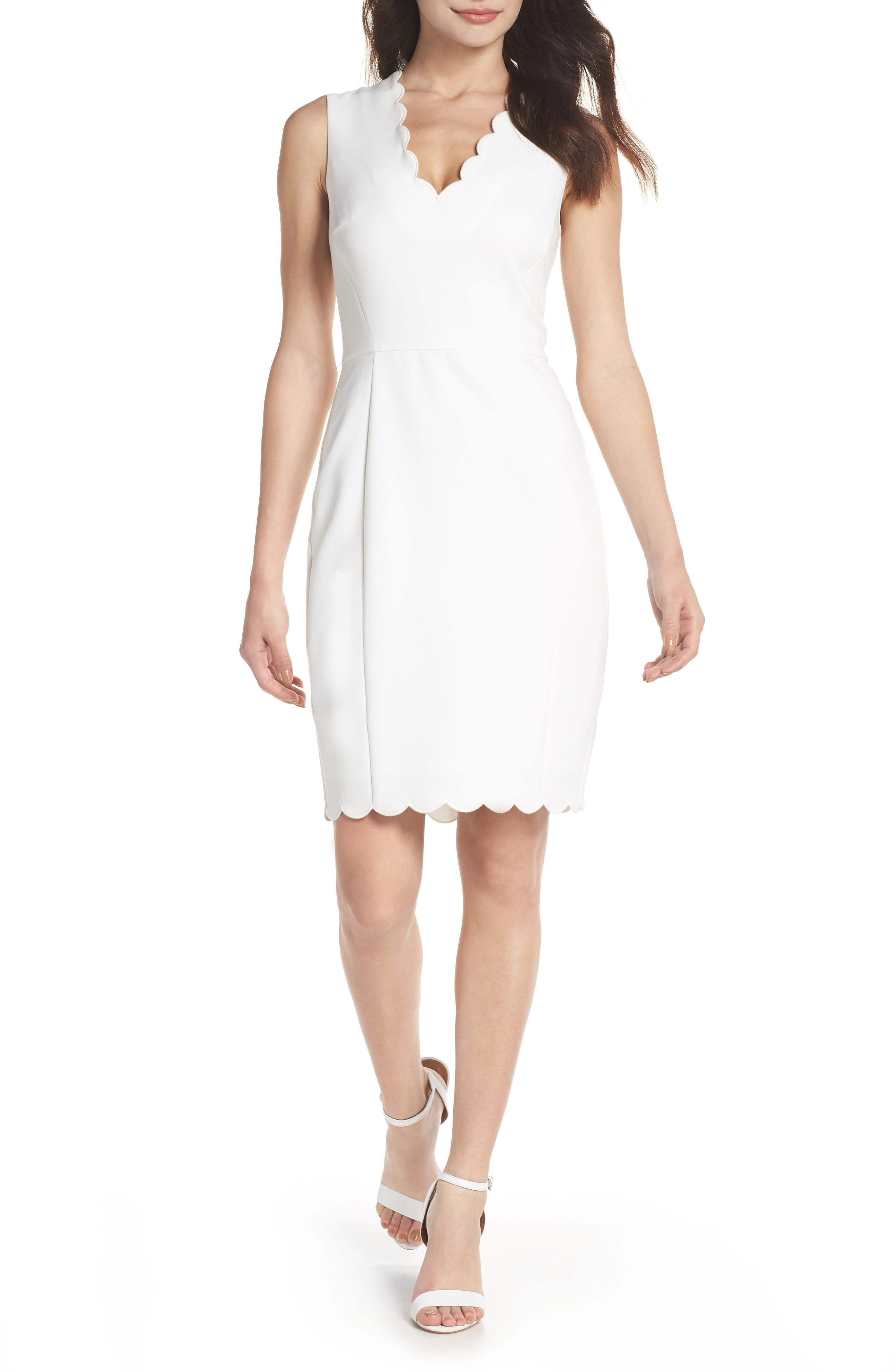 French Connection Whisper Ruth Sheath Dress, White