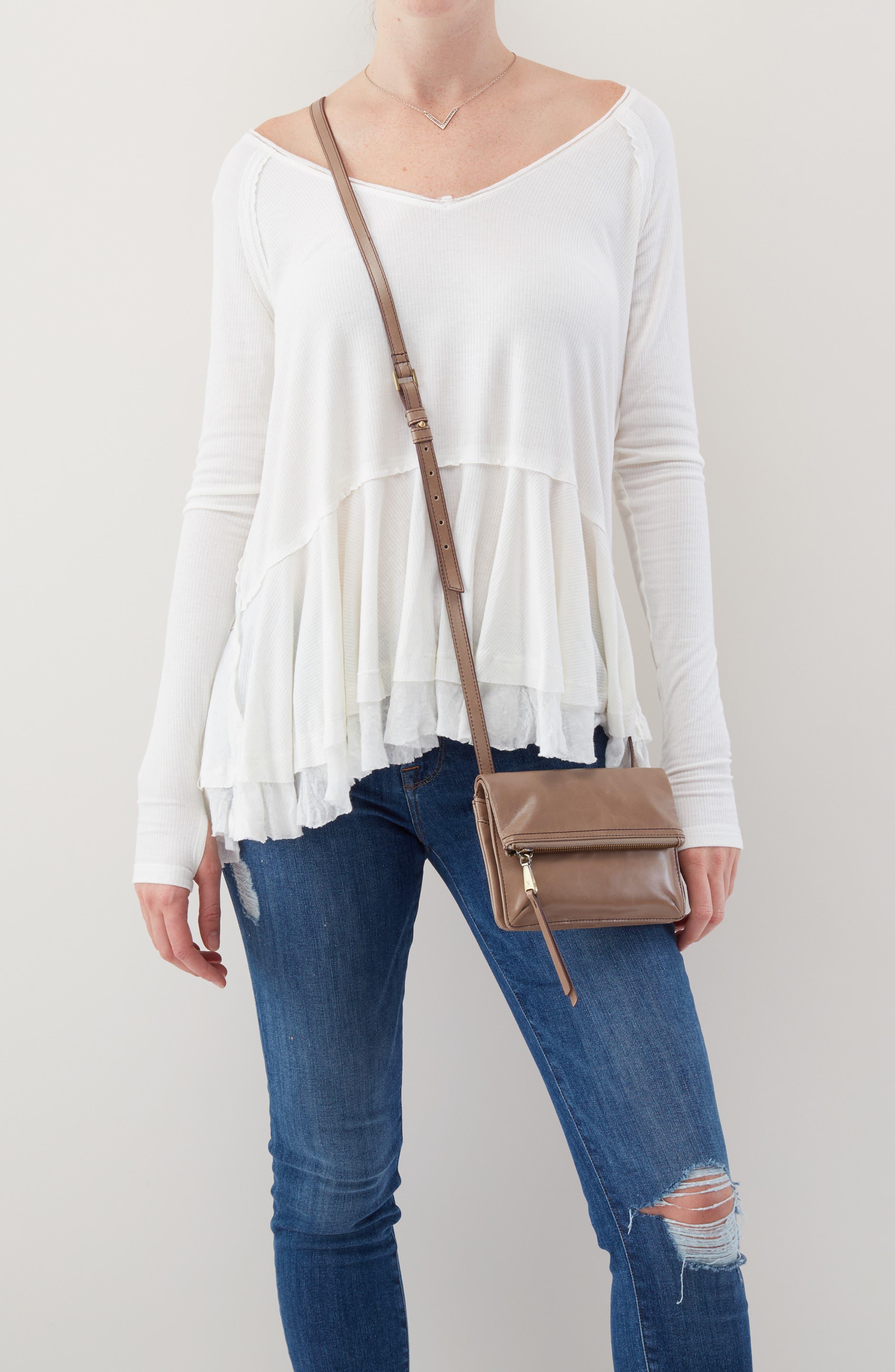 Glade Leather Crossbody Bag,                             Alternate thumbnail 2, color,                             COBBLESTONE