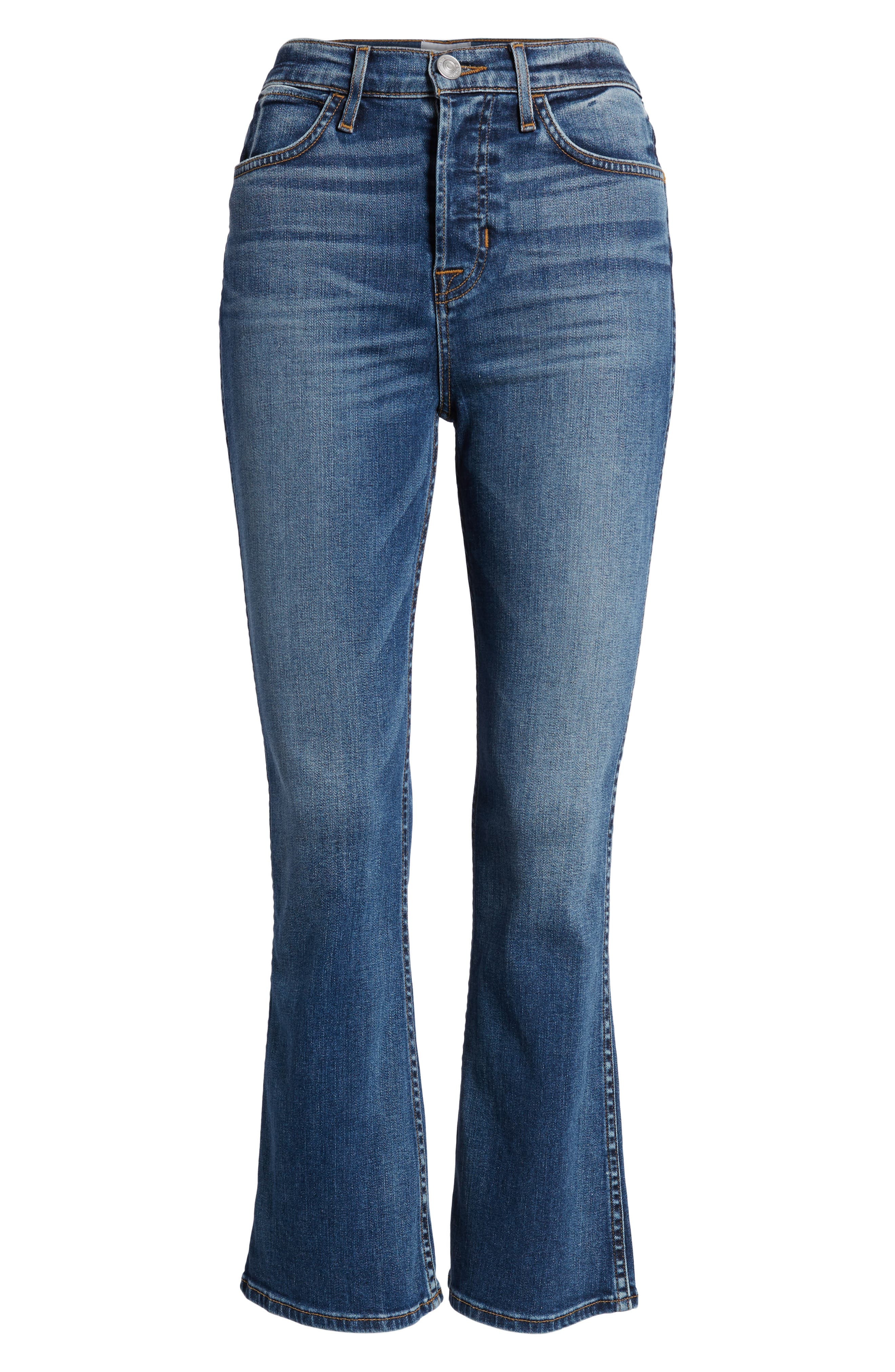 Holly High Waist Crop Flare Jeans,                             Alternate thumbnail 7, color,                             426