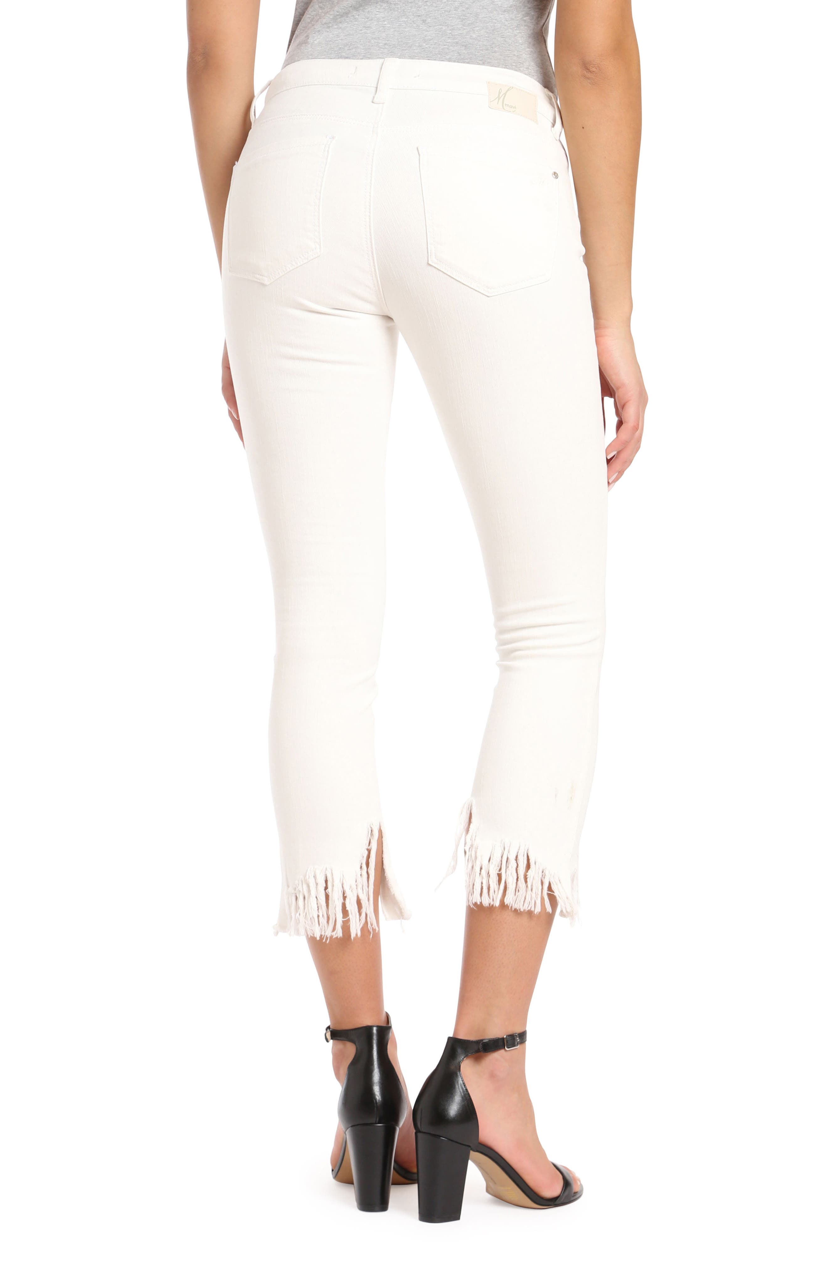Mavi Tess Vintage Fringe Super Skinny Jeans,                             Alternate thumbnail 2, color,                             100