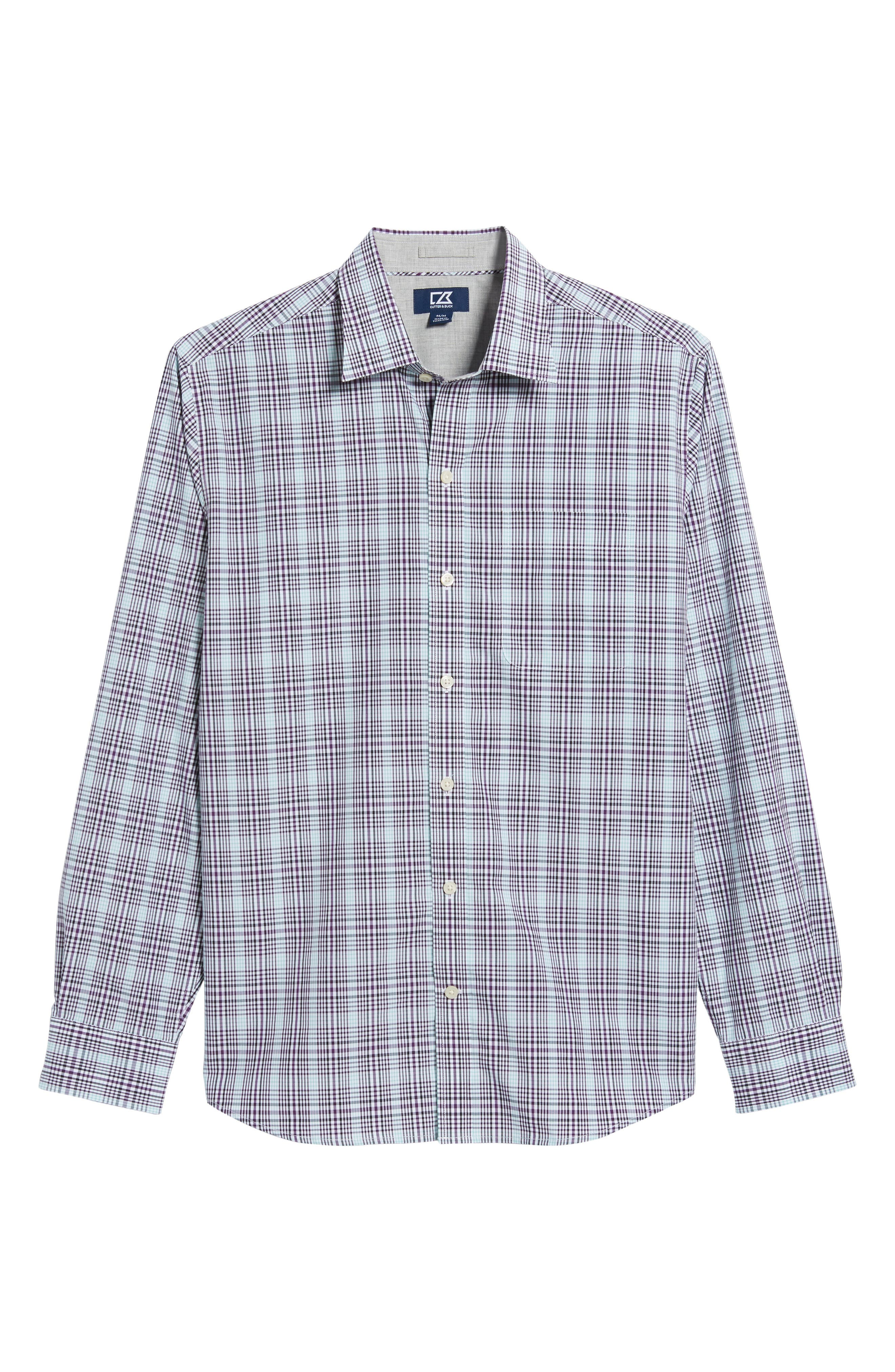 Hoyt Plaid Non-Iron Sport Shirt,                             Alternate thumbnail 6, color,