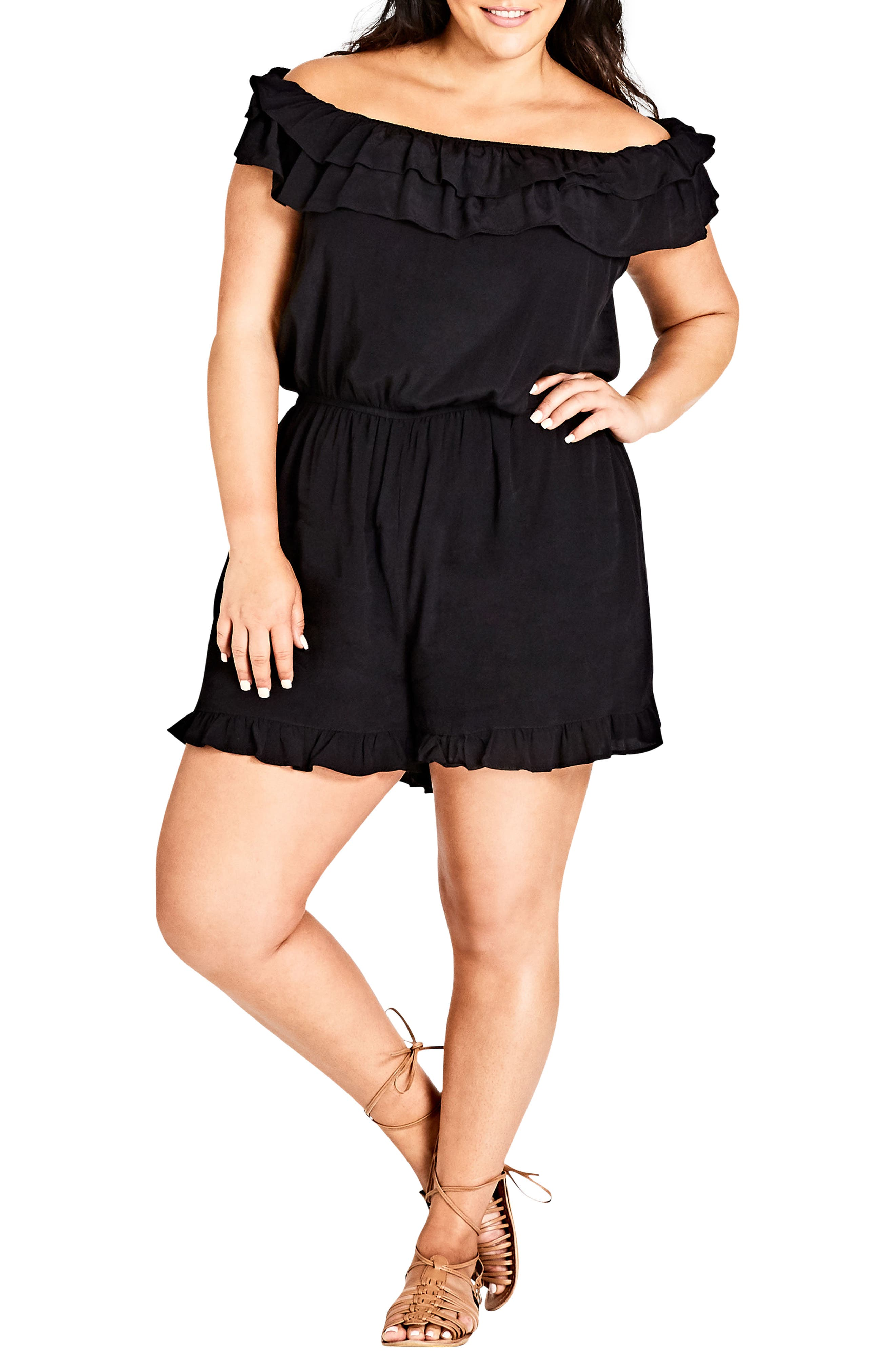 Weekend Playsuit,                             Main thumbnail 1, color,                             BLACK