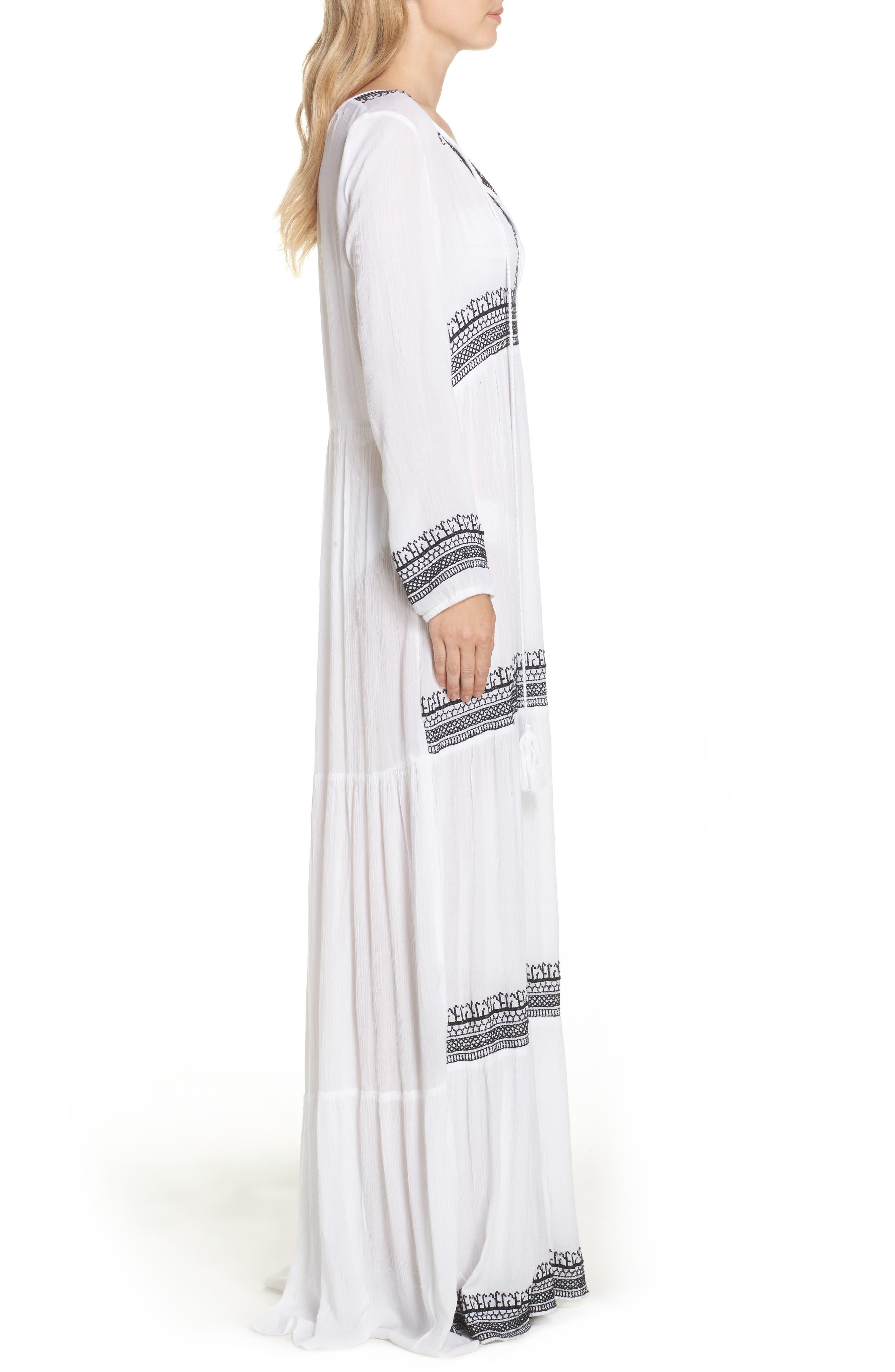 Gitana Maxi Cover-Up Dress,                             Alternate thumbnail 3, color,