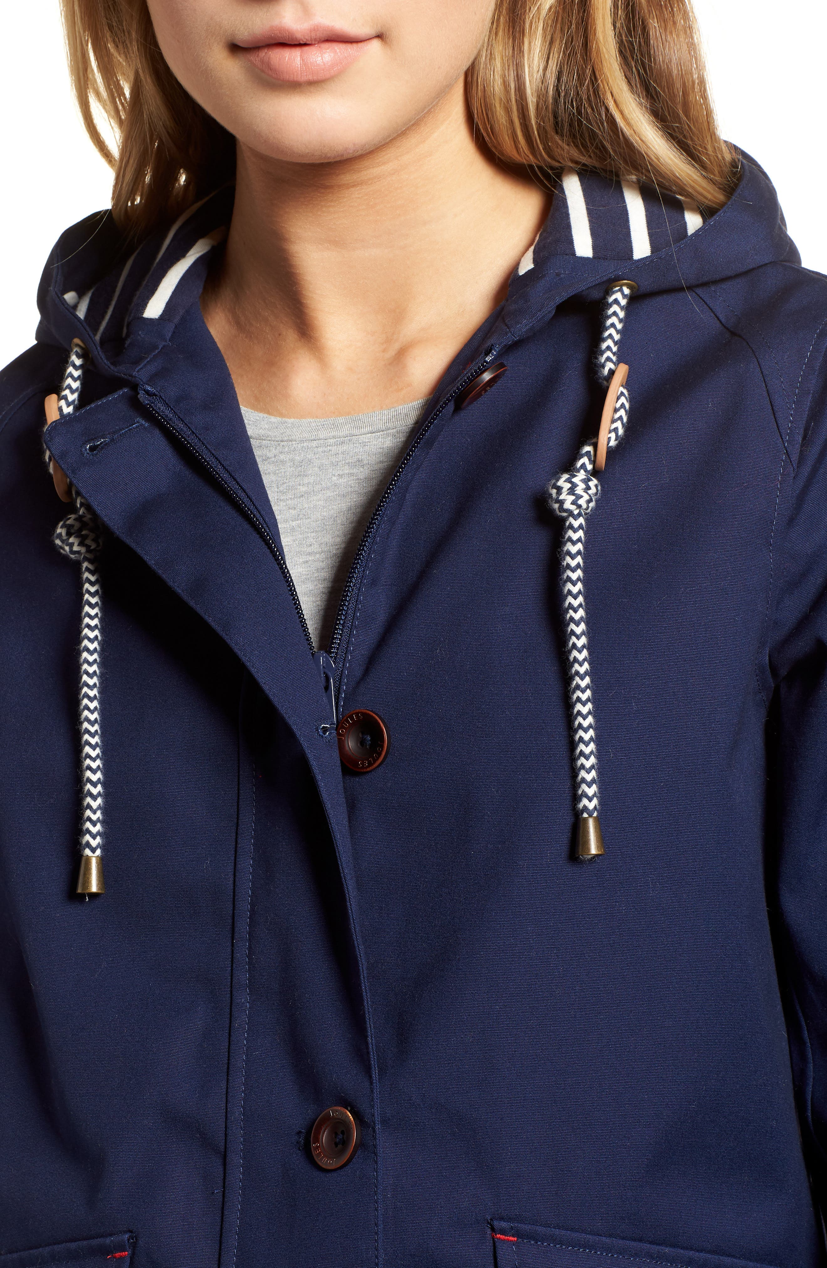 Right as Rain Waterproof Hooded Jacket,                             Alternate thumbnail 4, color,                             FRENCH NAVY