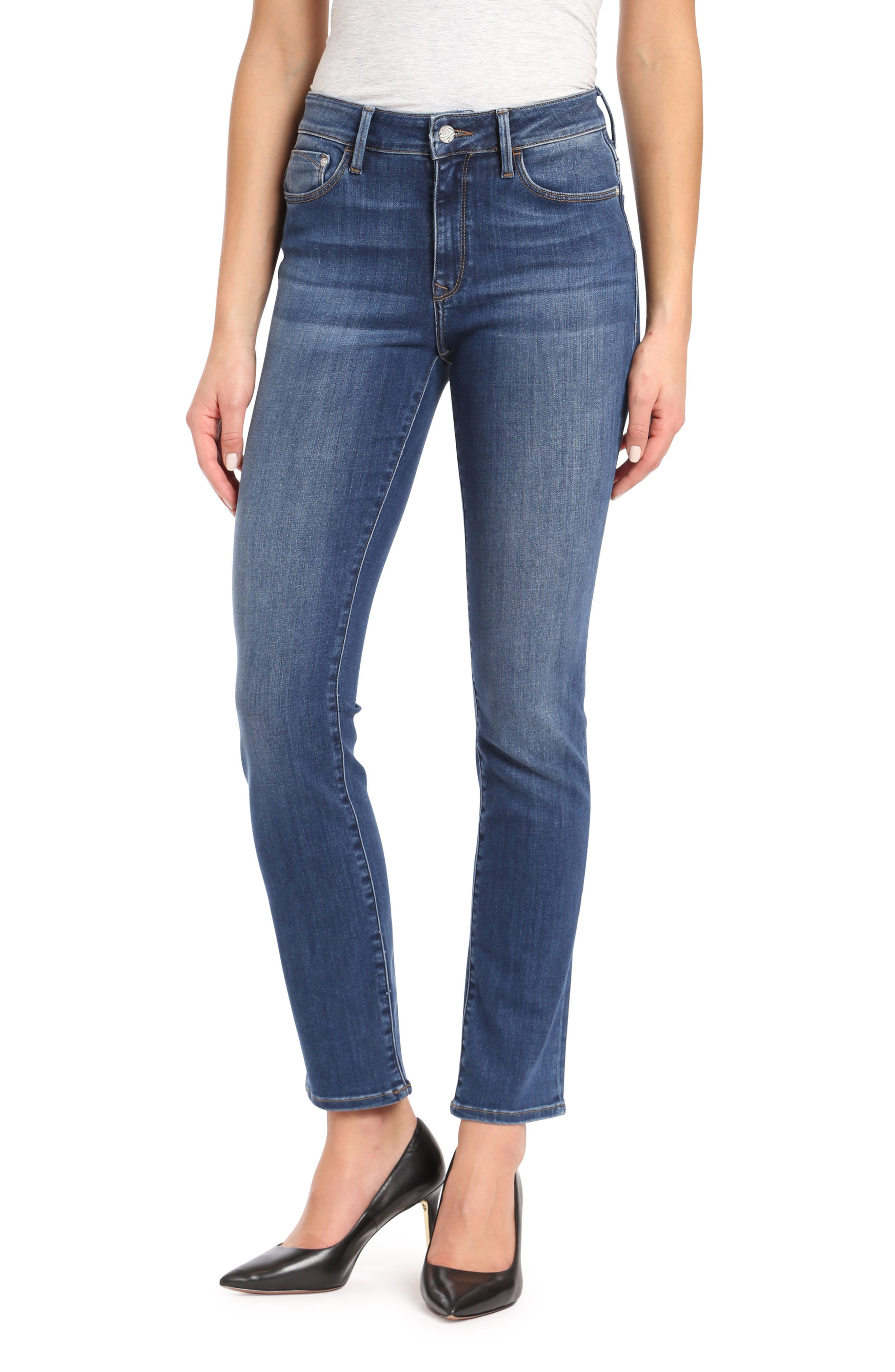 Kendra Straight Leg Jeans,                             Main thumbnail 1, color,                             INDIGO SUPER SOFT
