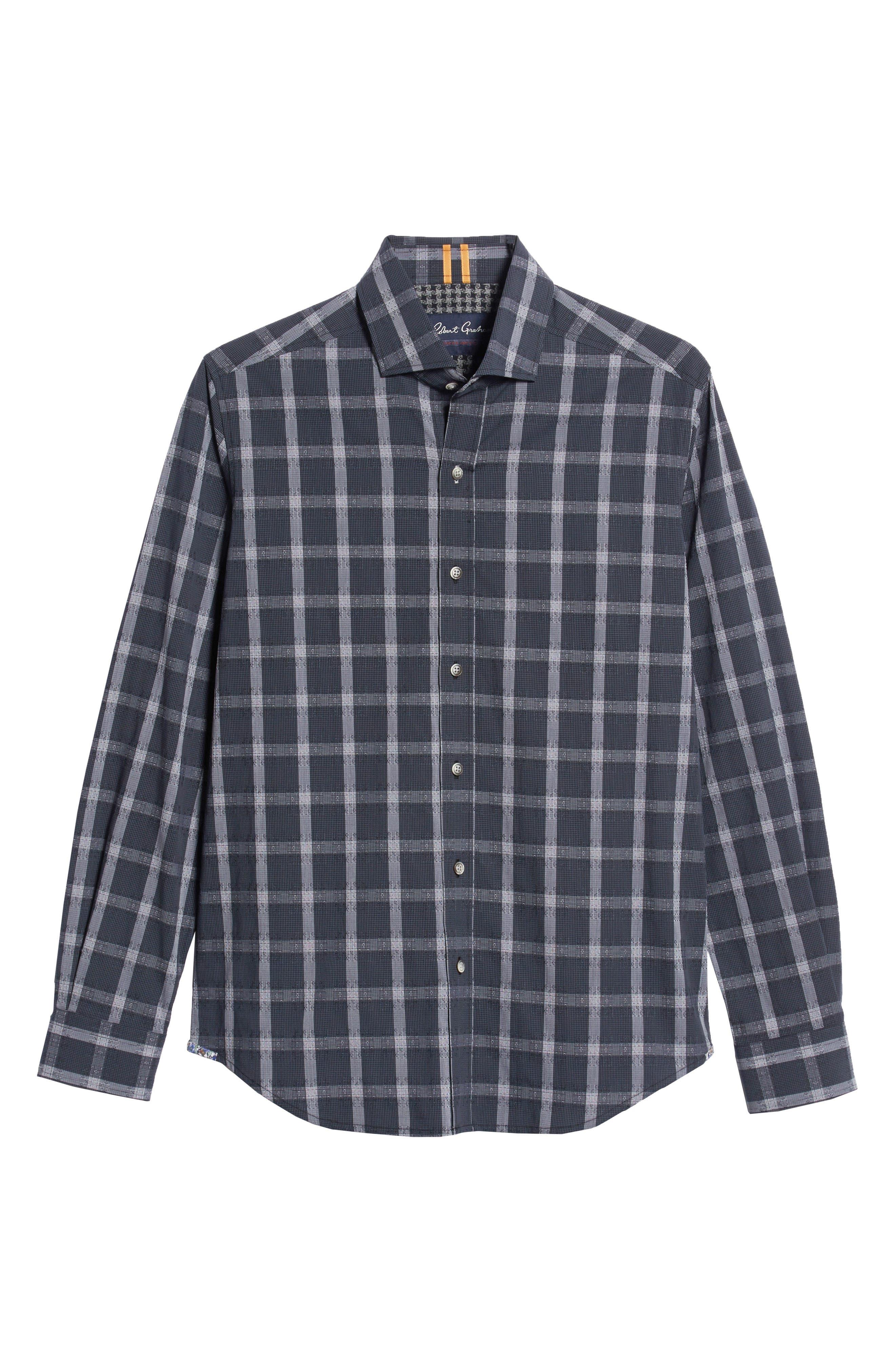 Jenson Tailored Fit Sport Shirt,                             Alternate thumbnail 5, color,                             BLACK