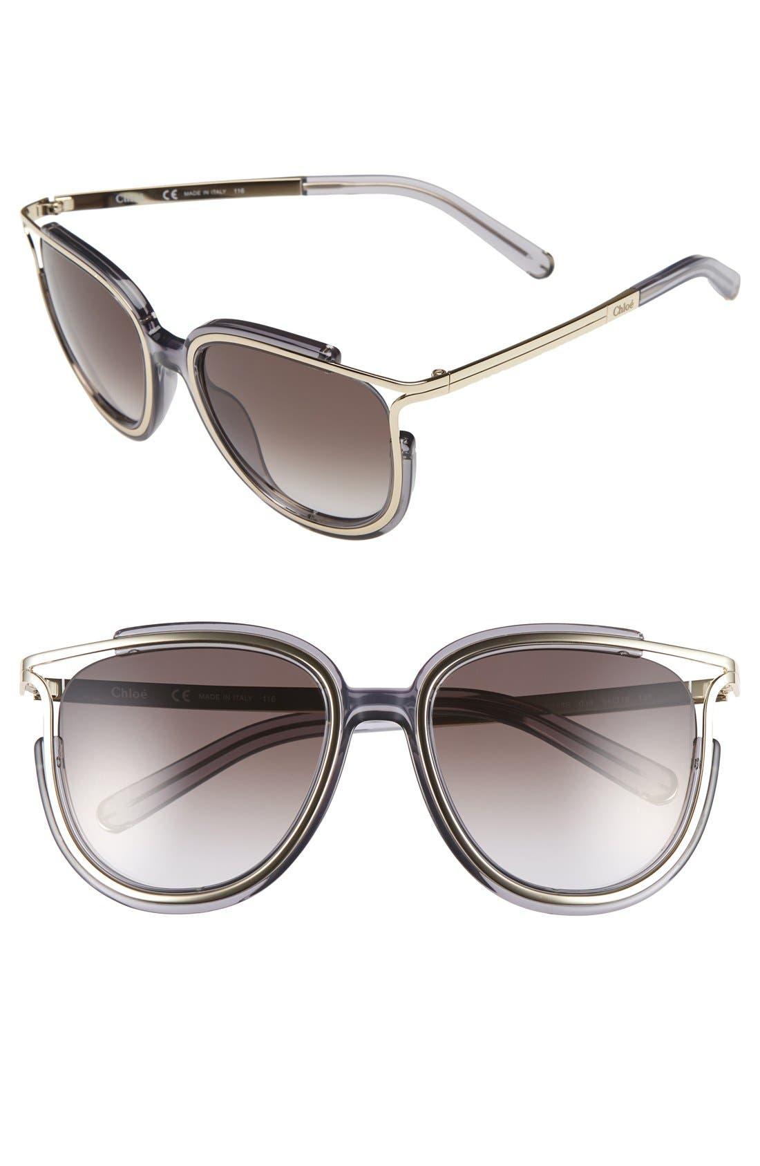 'Jayme' 54mm Retro Sunglasses,                         Main,                         color, 020