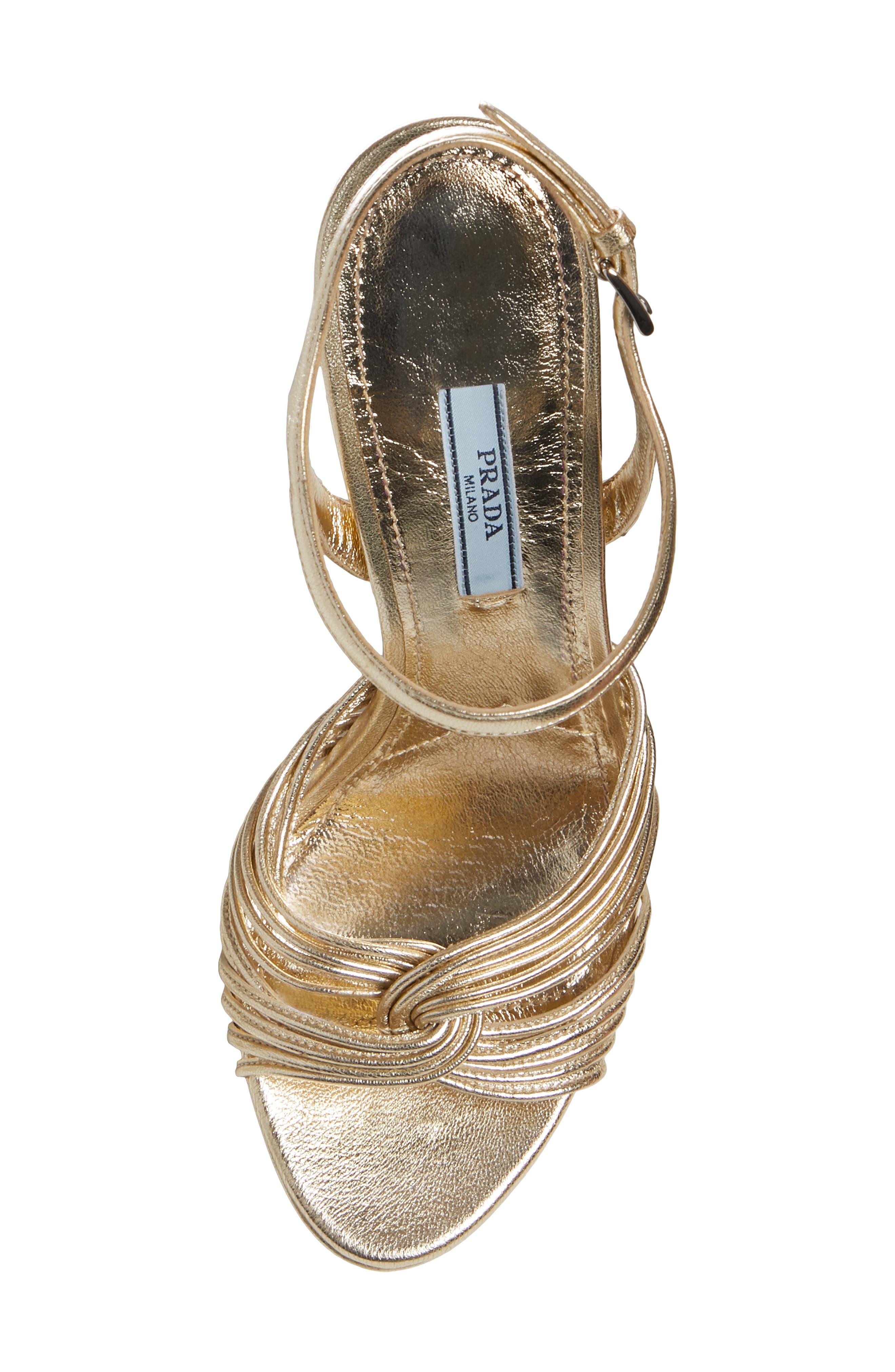 Roping Ankle Strap Sandal,                             Alternate thumbnail 5, color,                             PIRITE LEATHER