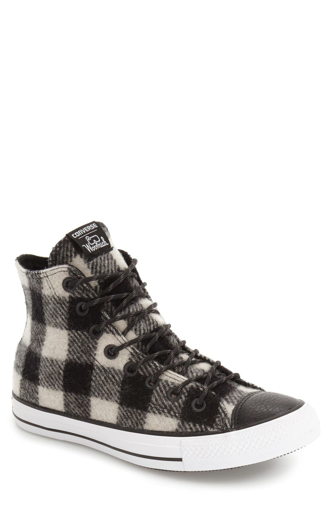 Chuck Taylor<sup>®</sup> All Star<sup>®</sup> Woolrich High Top Sneaker, Main, color, 001