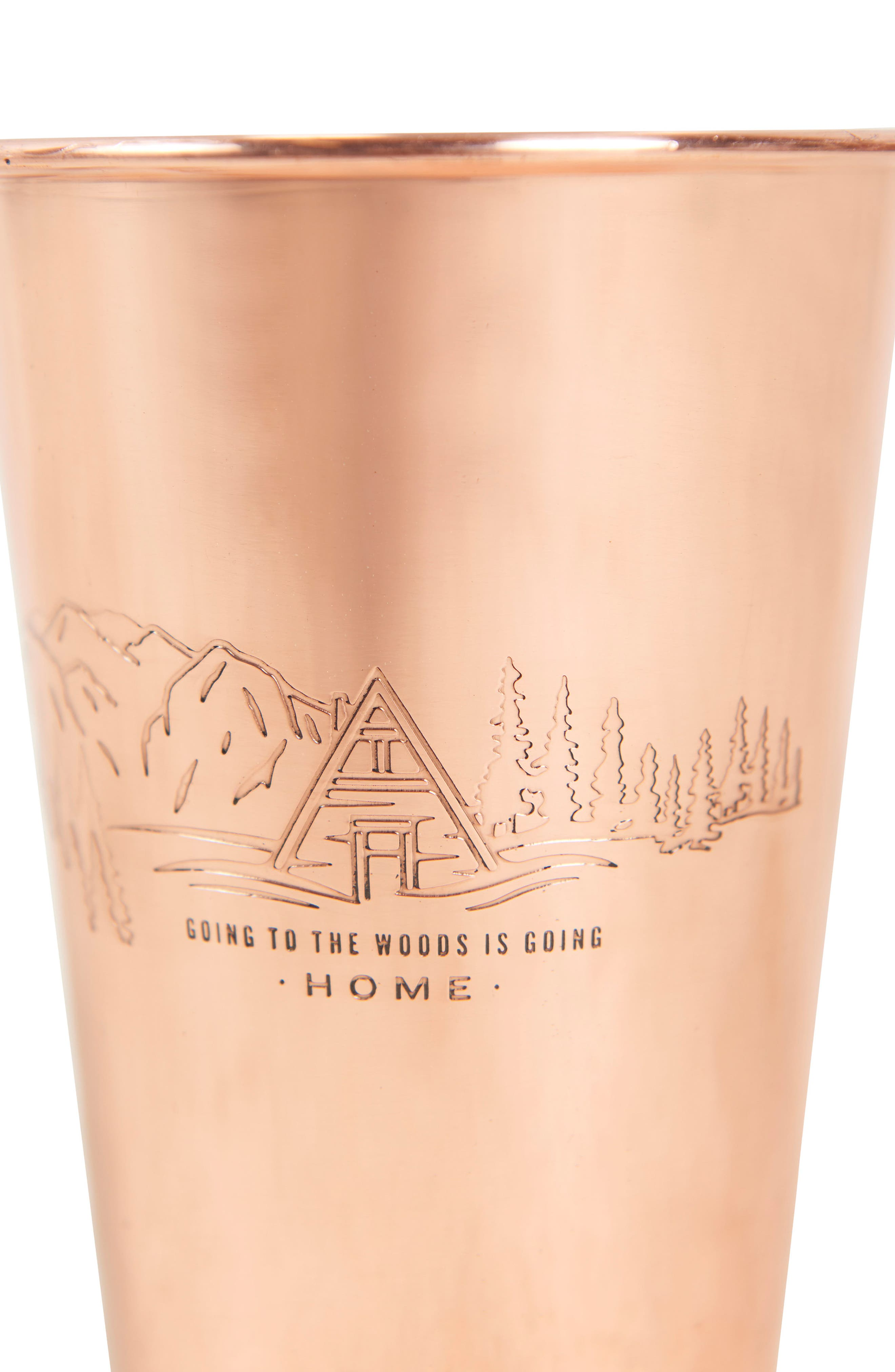 Engraved Copper Tumbler,                             Alternate thumbnail 2, color,                             TO THE WOODS