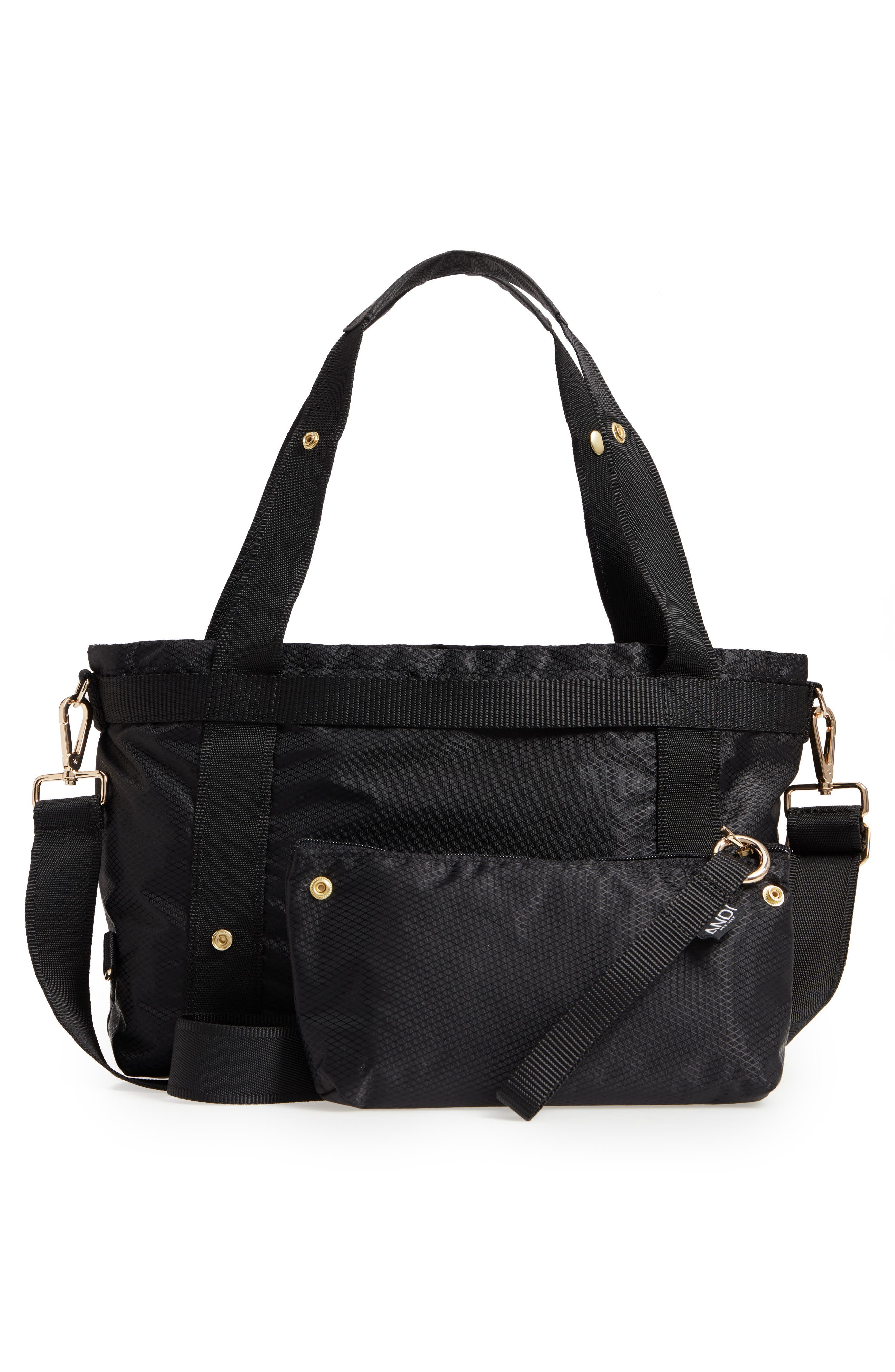 The ANDI Small Convertible Tote,                             Alternate thumbnail 4, color,                             BLACK