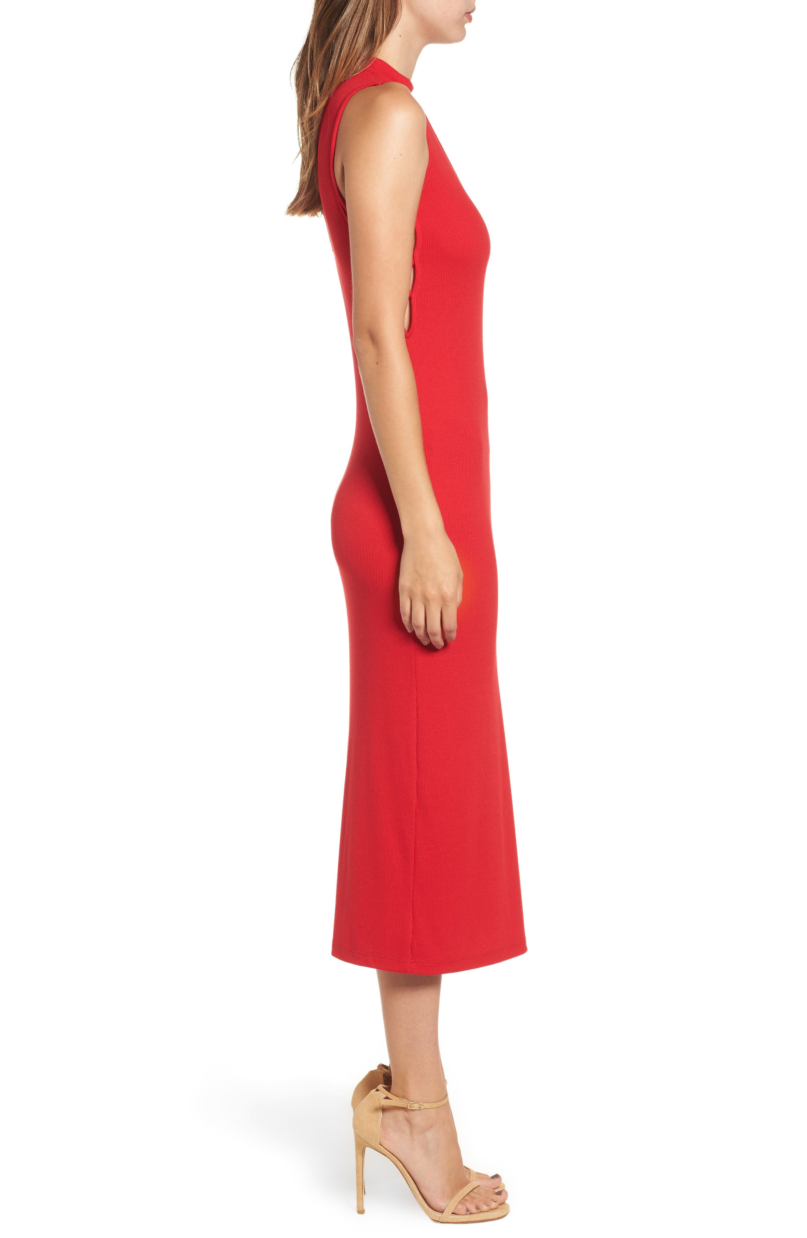 Body-Con Knit Dress,                             Alternate thumbnail 3, color,                             600