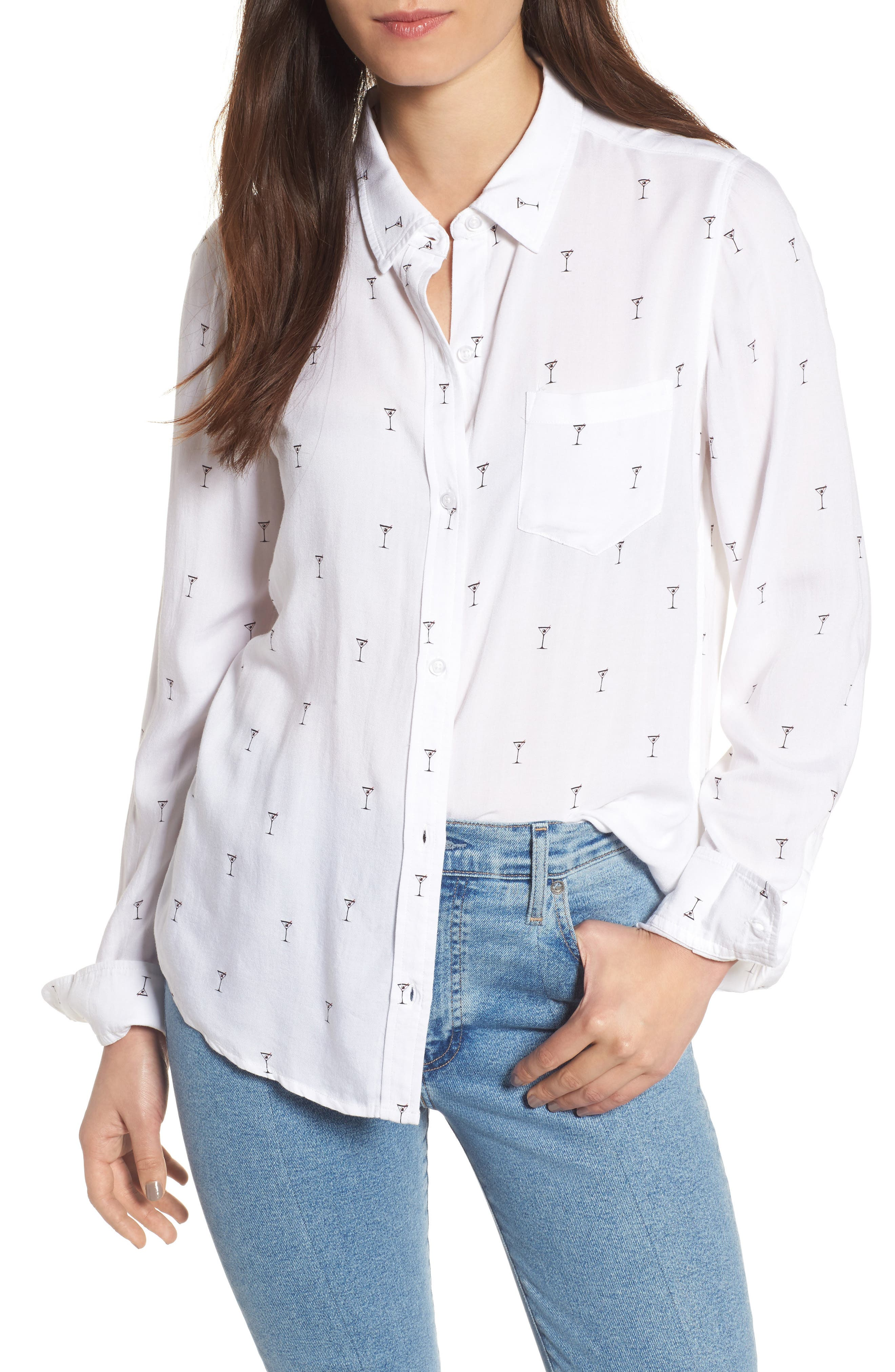 Rocsi Print Shirt,                         Main,                         color, 101